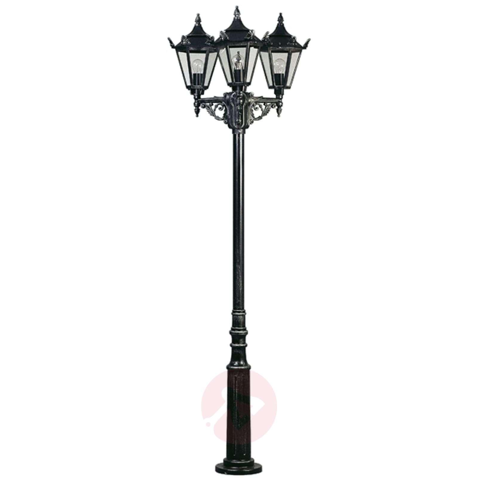 Maalaistyylinen lyhtypylväs 756 S, 3 lamppua-4001756-01