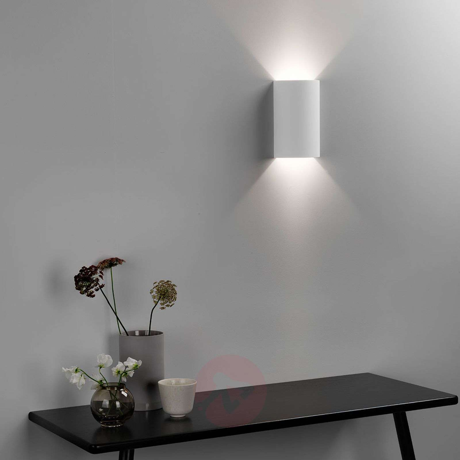 Maalattava LED-seinävalaisin Serifos170 kipsistä-1020588-01