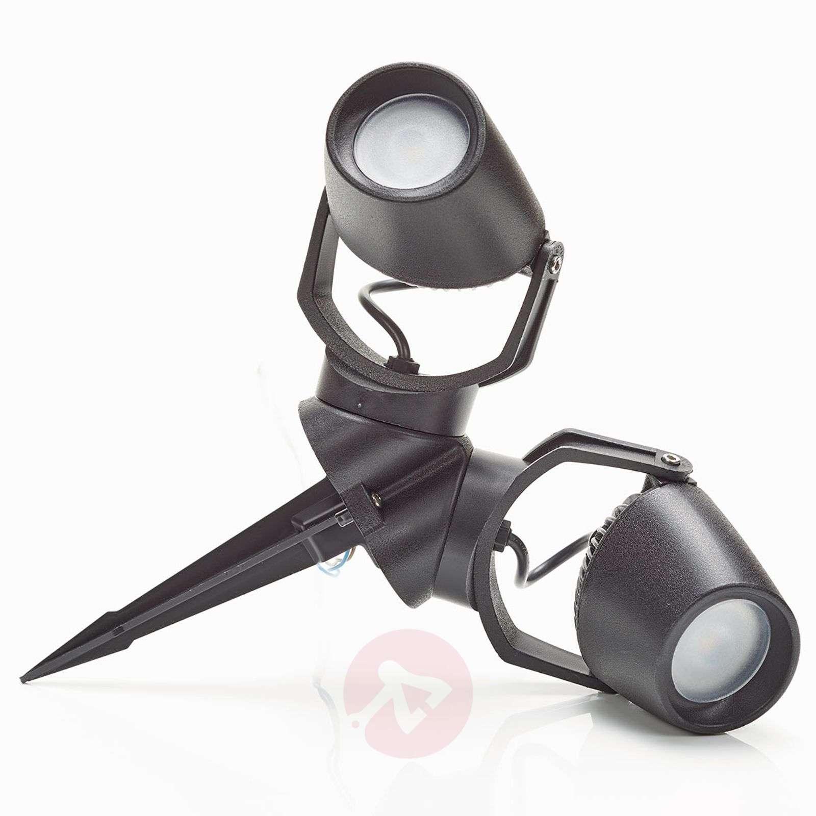 Maapiikkikohdevalo Minitommy mustana, 2-lamppuinen-3538088-01