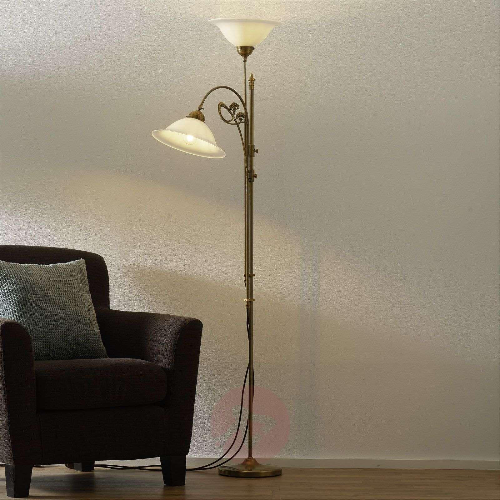 Messinkinen Alwine-lattiavalaisin, kaksilamppuinen-1542009-01