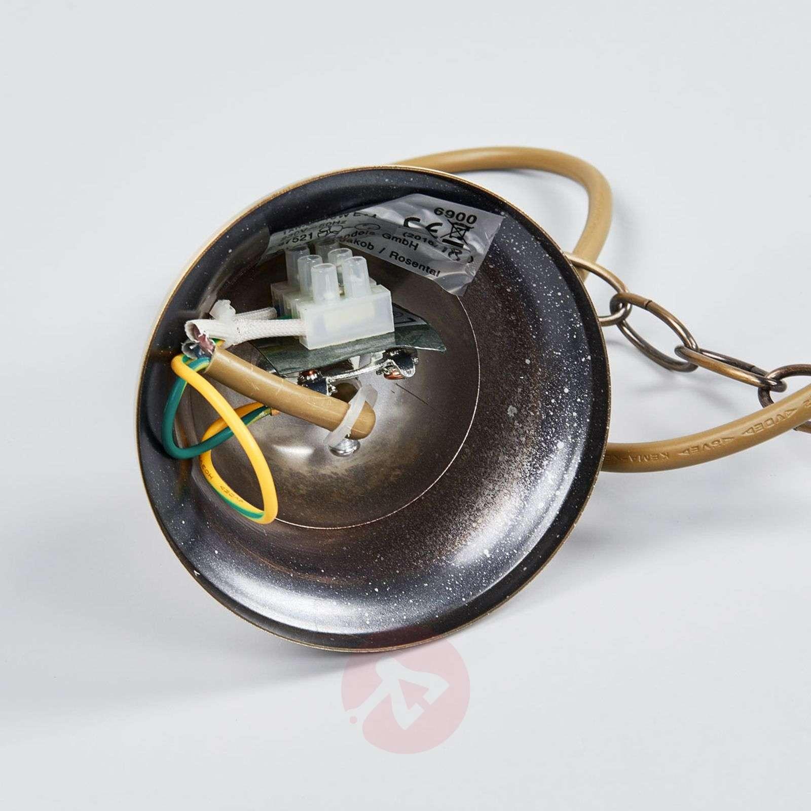 Messinkinen NOSTALGIKA-riippuvalaisin, 1 lamppu-4014355-01