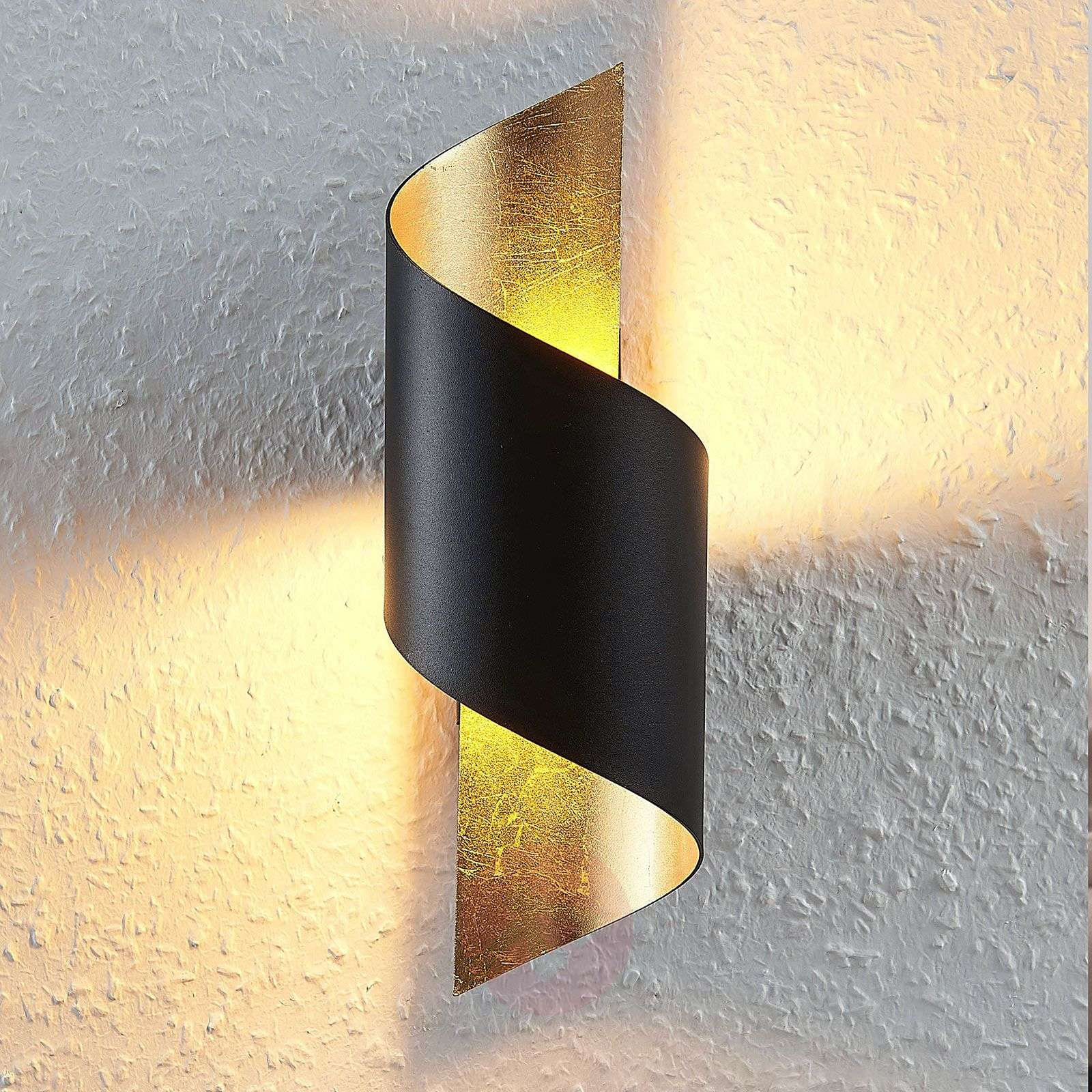 Metallinen LED-kattovalaisi Desirio, musta-kulta-9624514-01
