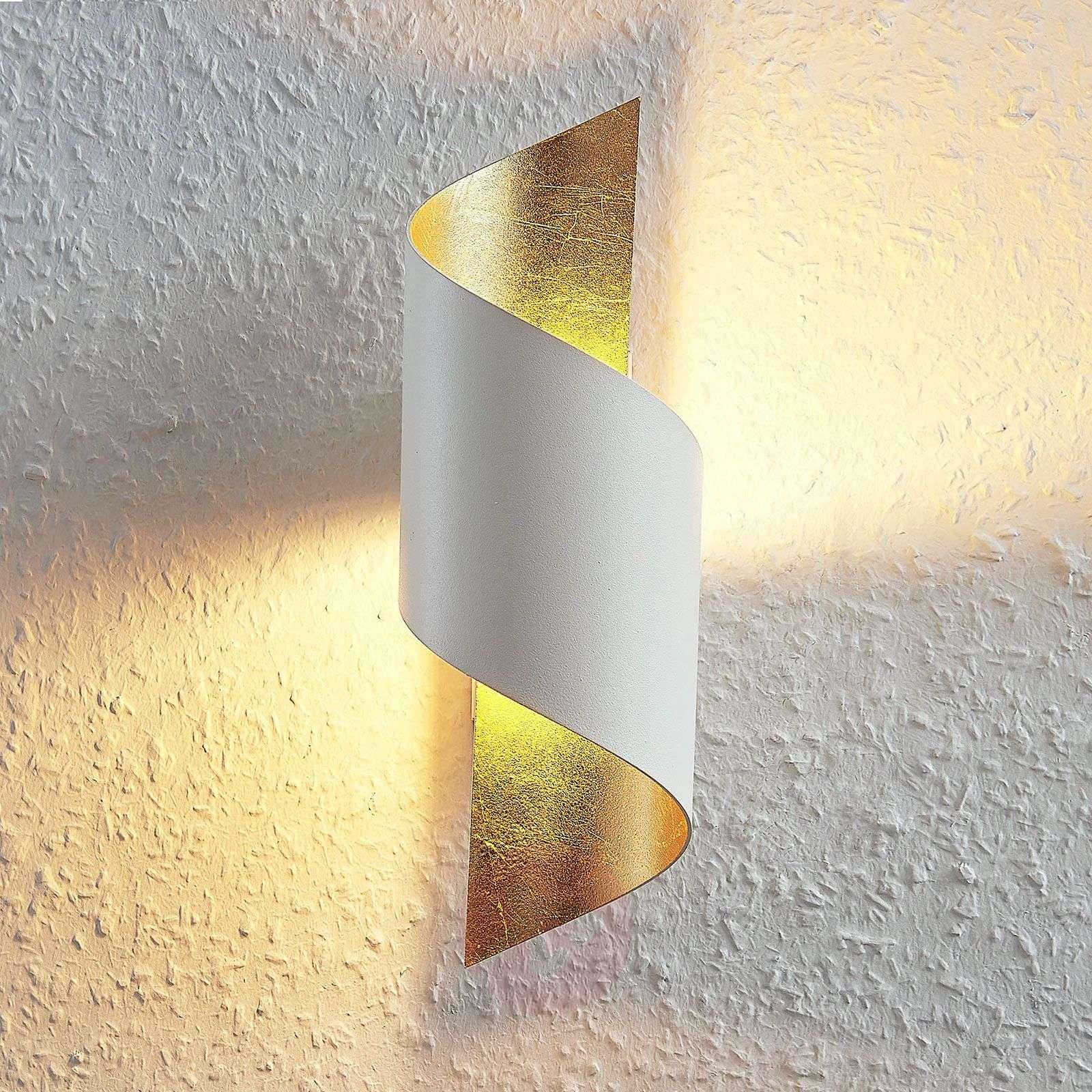 Metallinen LED-seinävalaisin Desirio, valk.-kulta-9624515-01