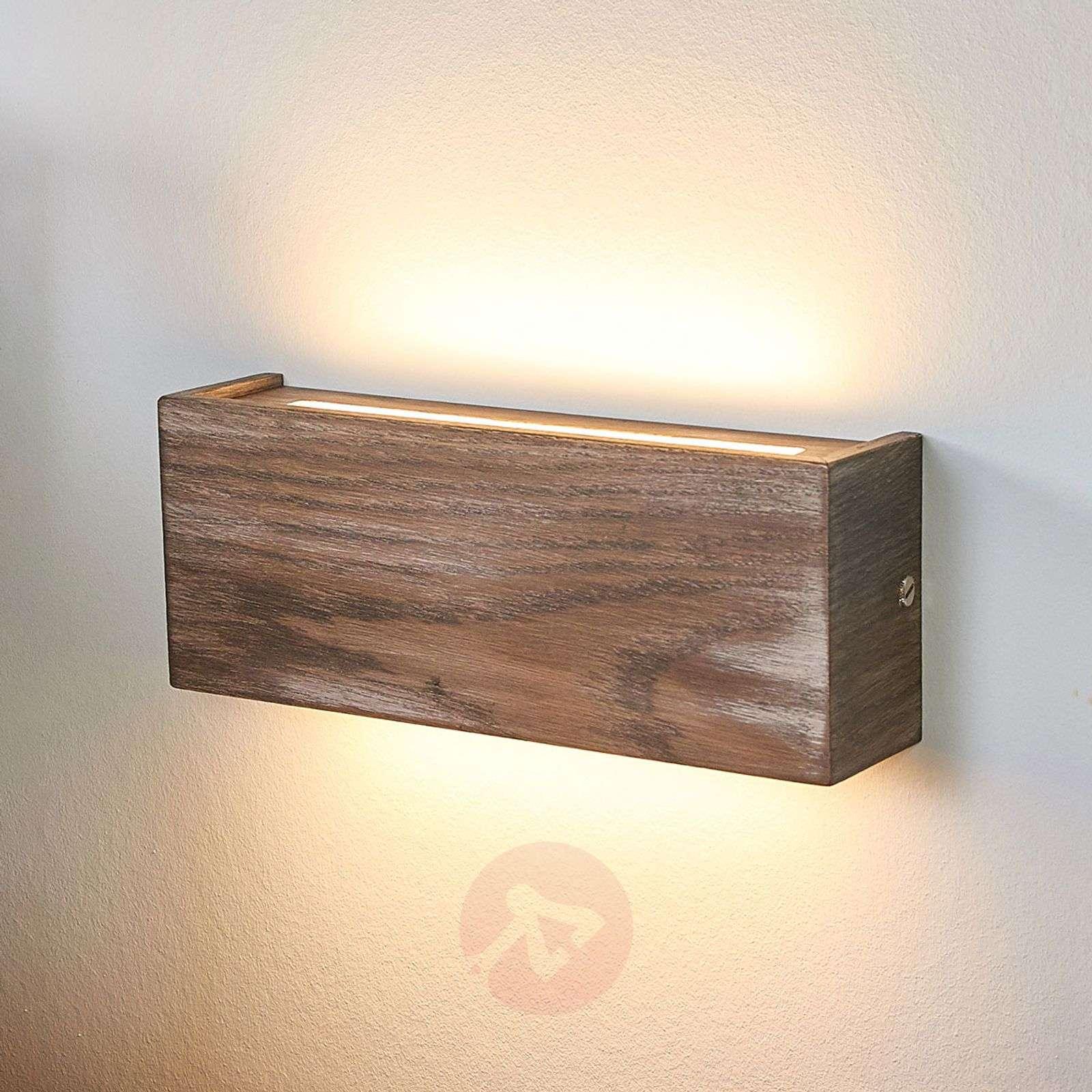 Mila – himmennettävä puinen LED-seinävalaisin-6722482X-011