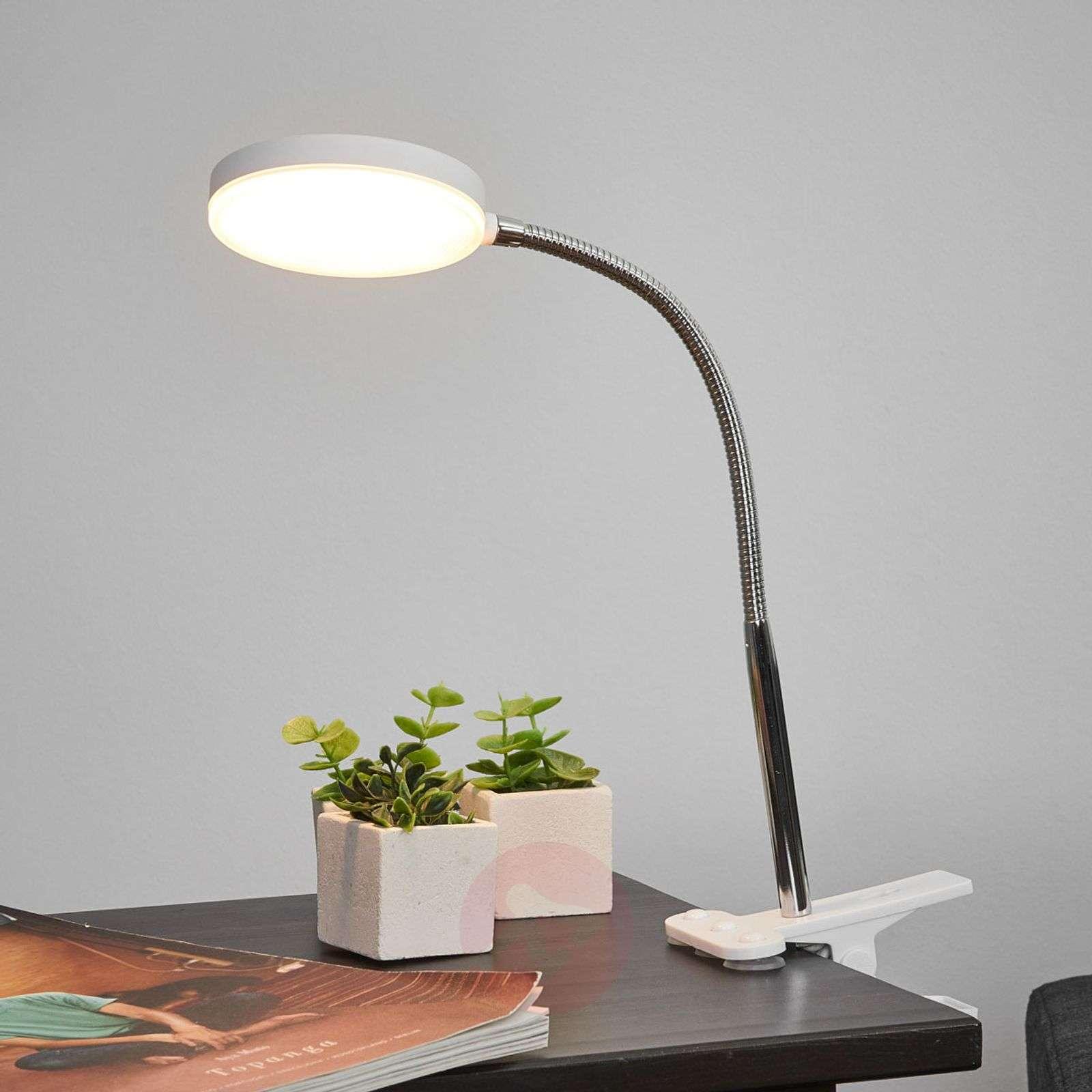 Milow-klipsivalaisin työpöydälle LED, joustovarsi