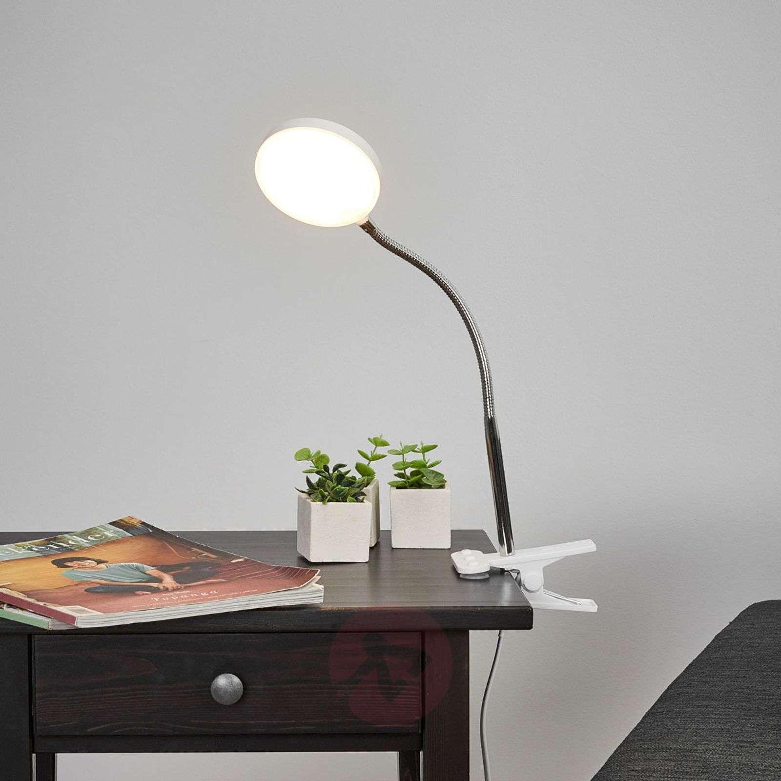 Milow-klipsivalaisin työpöydälle LED, joustovarsi-9643027-02