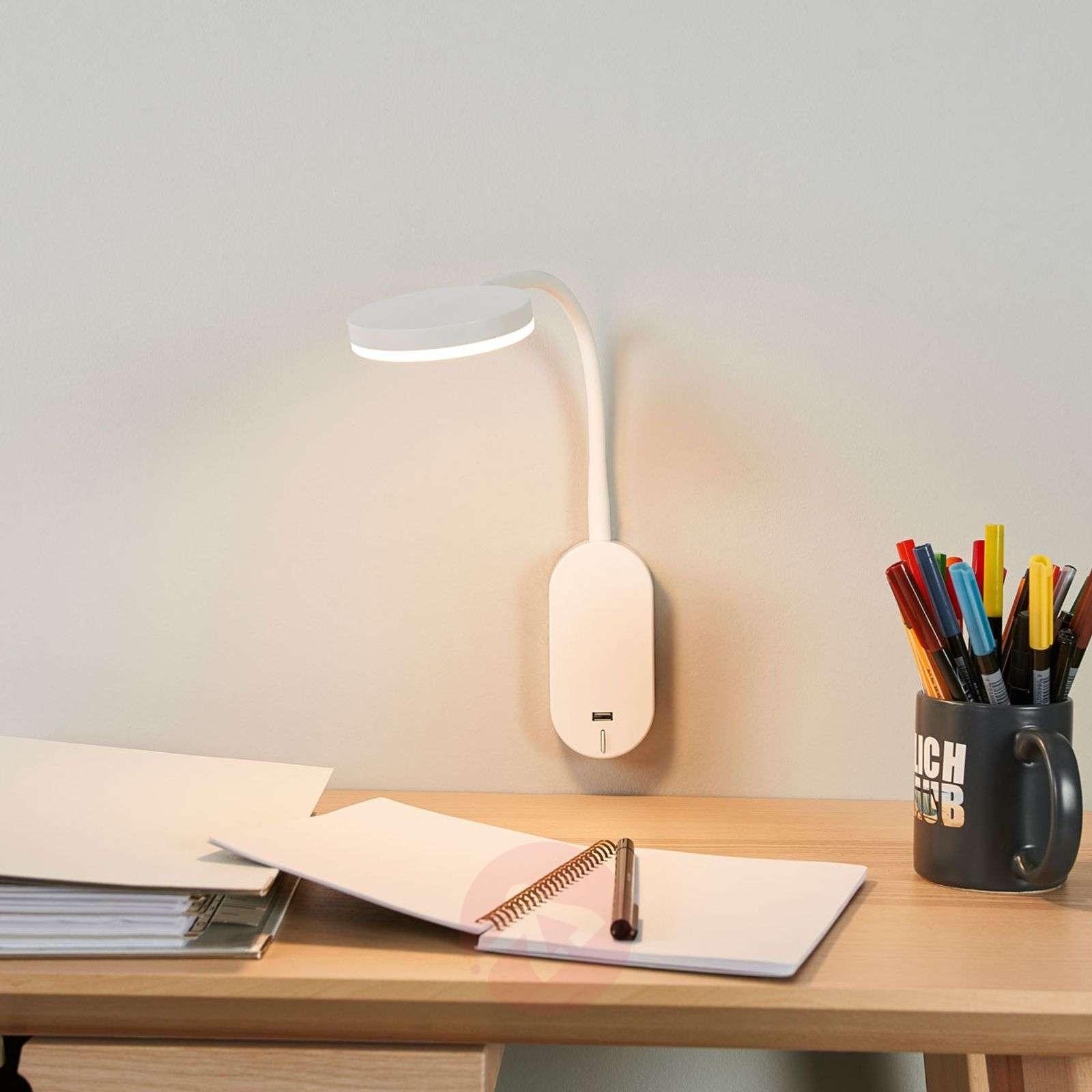 Milow-seinävalaisin LED, joustovarsi and USB-portti-9643030-01