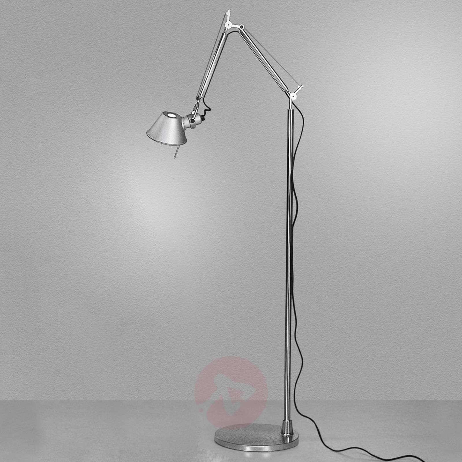Minimalistinen design-lattiavalaisin Tolomeo Micro