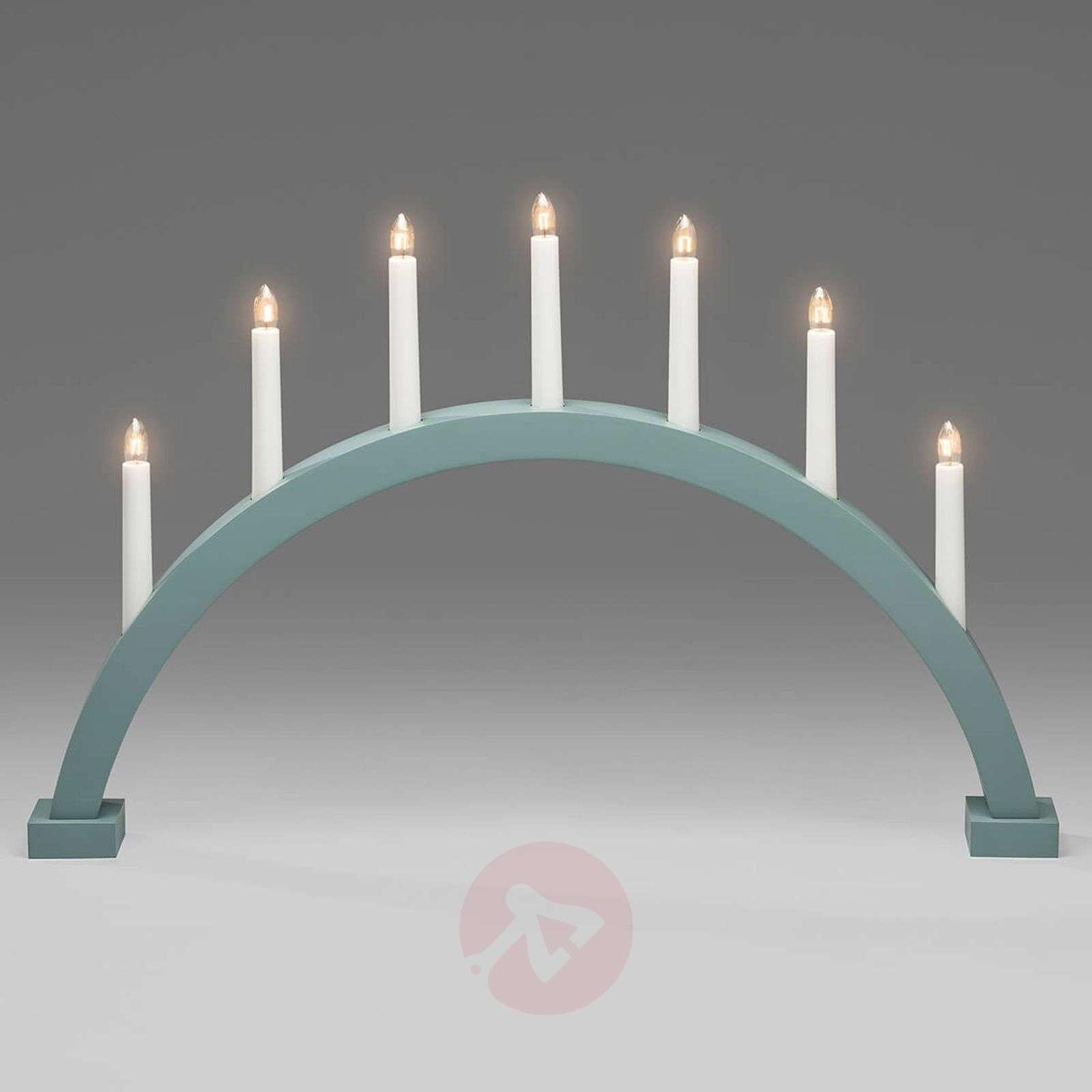 Mintunvihreä 7-lamppuinen kaarikynttelikkö Matti-5524670-01