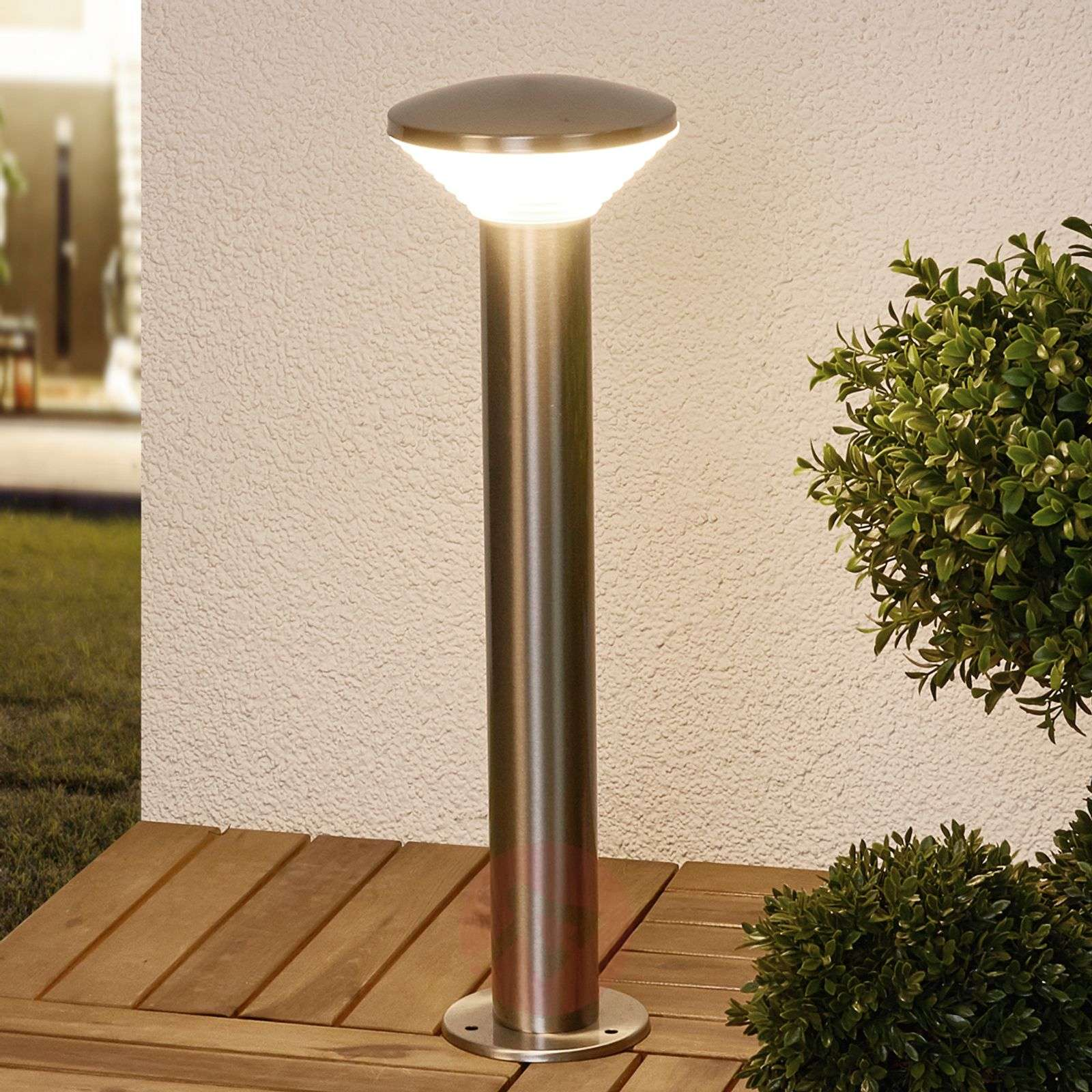 Moderni LED-pollarivalaisin Tiga ruostum. terästä-9988073-02