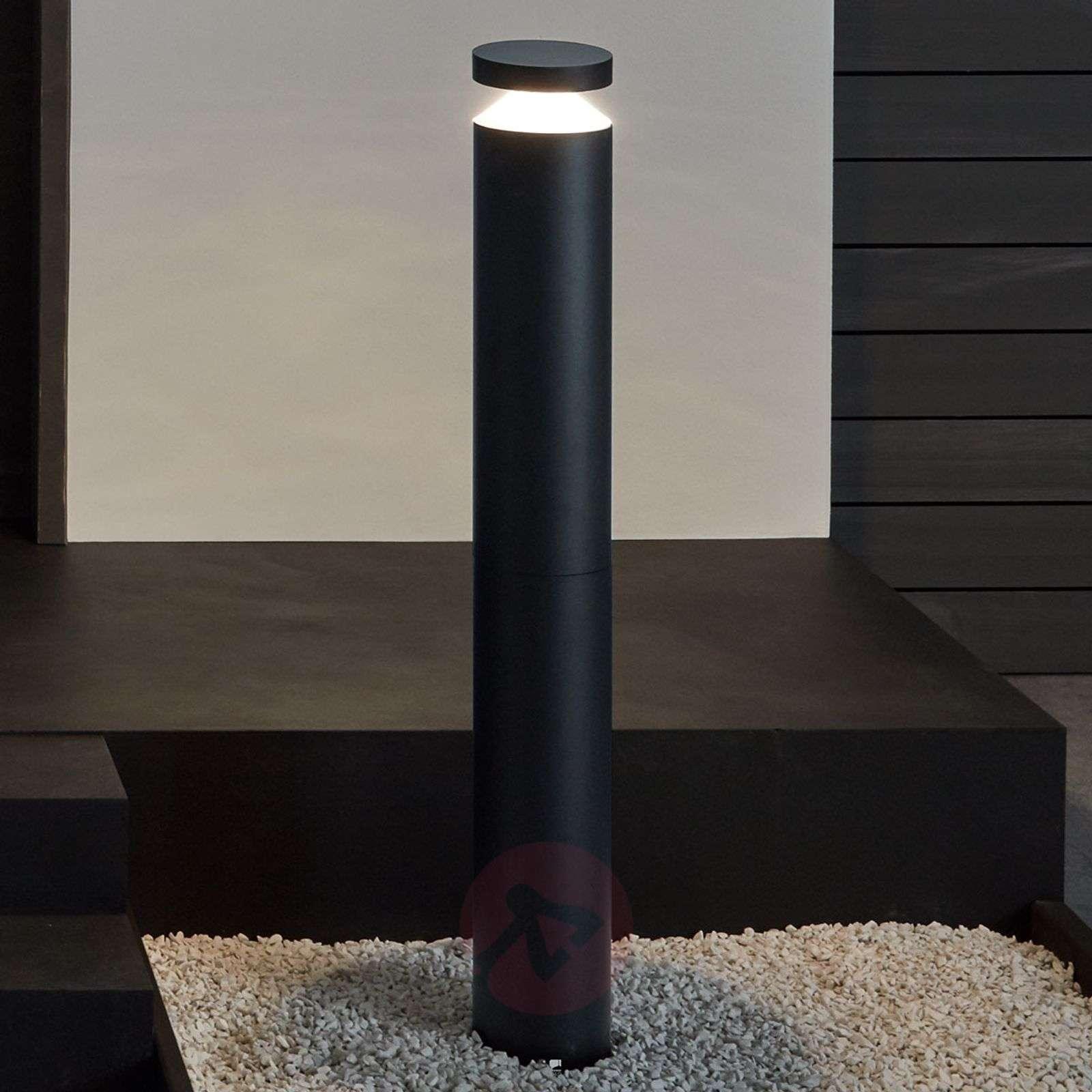 Moderni LED-pylväsvalaisin Melzo, musta-3000604-01