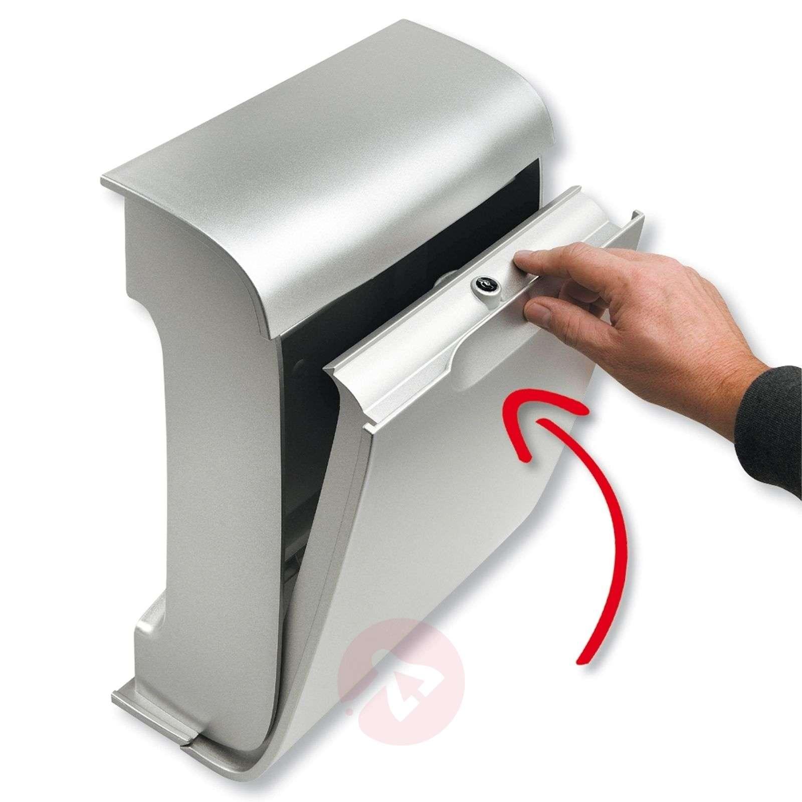 Moderni muovinen Vivo-postilaatikko, hopea-1532020-01