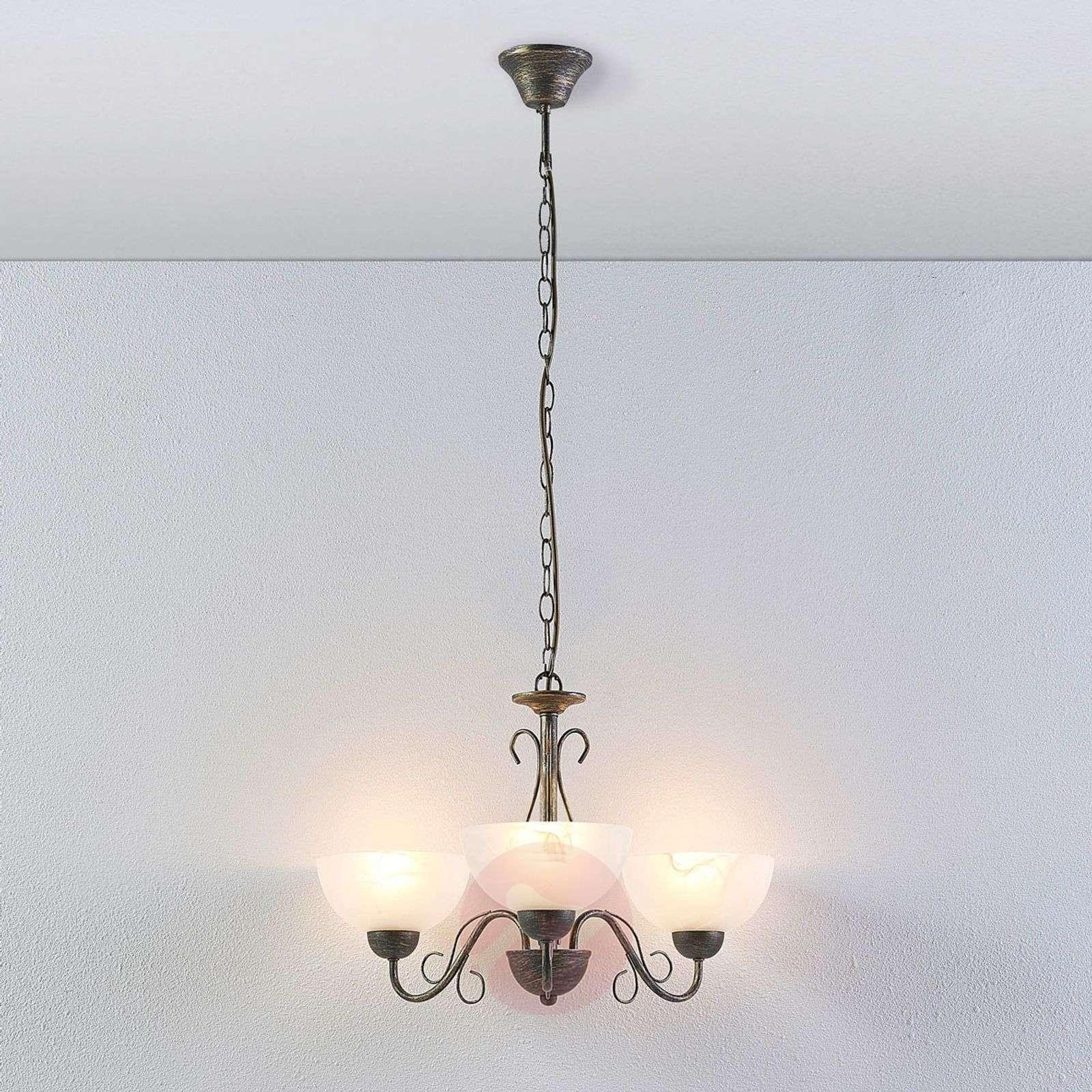 Mohija romanttinen riippuvalaisin, 3-lampp.-9620871-02