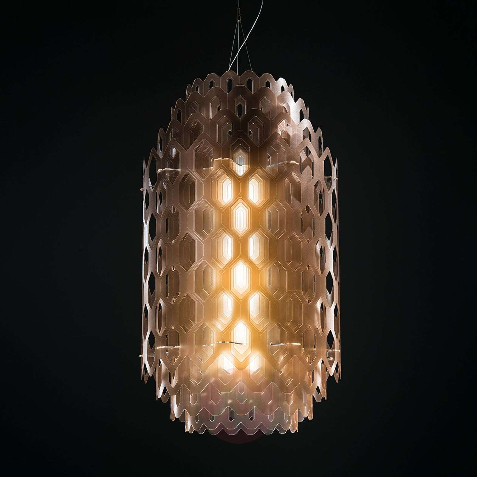 Monikerros-design-riippuvalaisin Chantal, oranssi-8503270-01