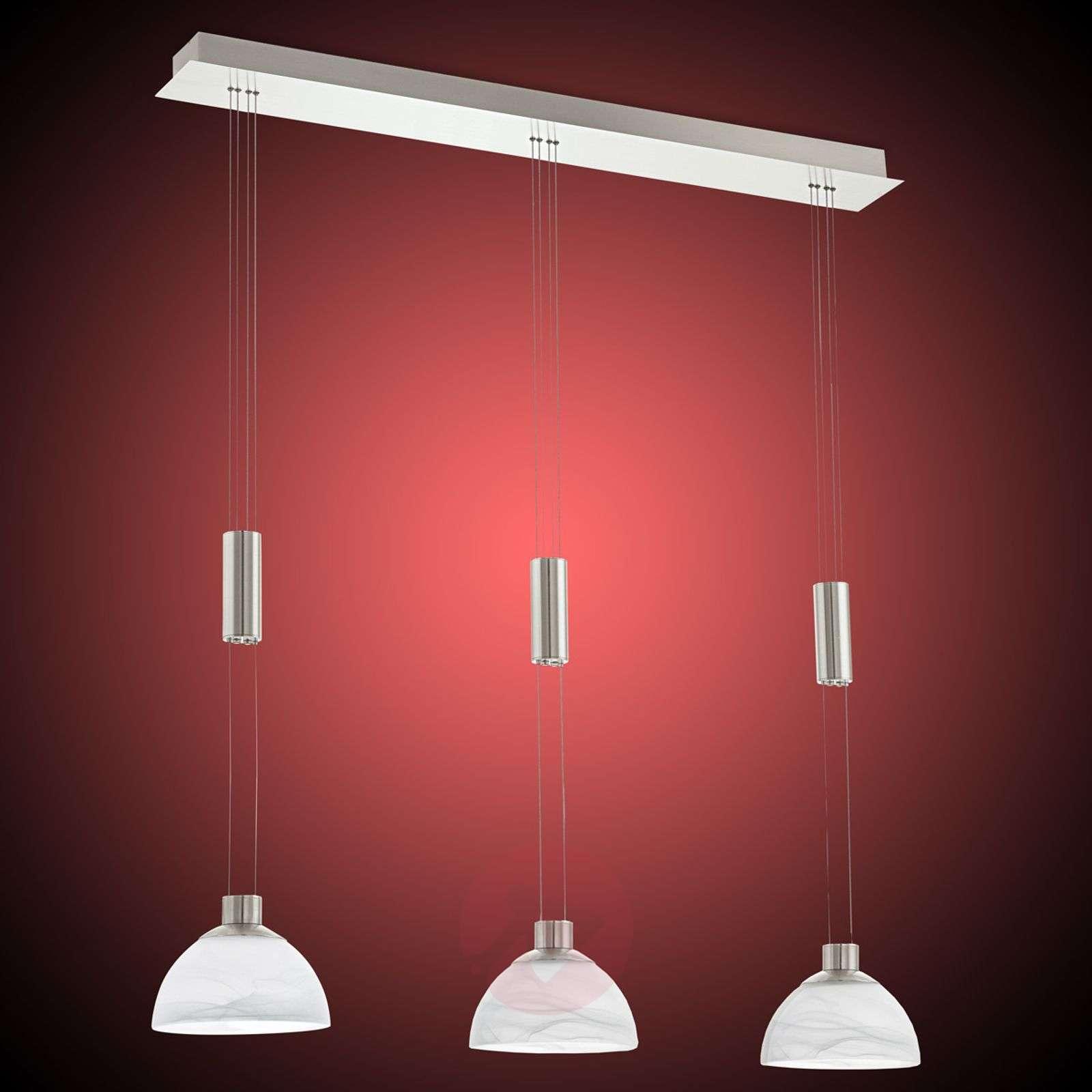 Montefio - 3-lamppuinen LED-riippuvalaisin