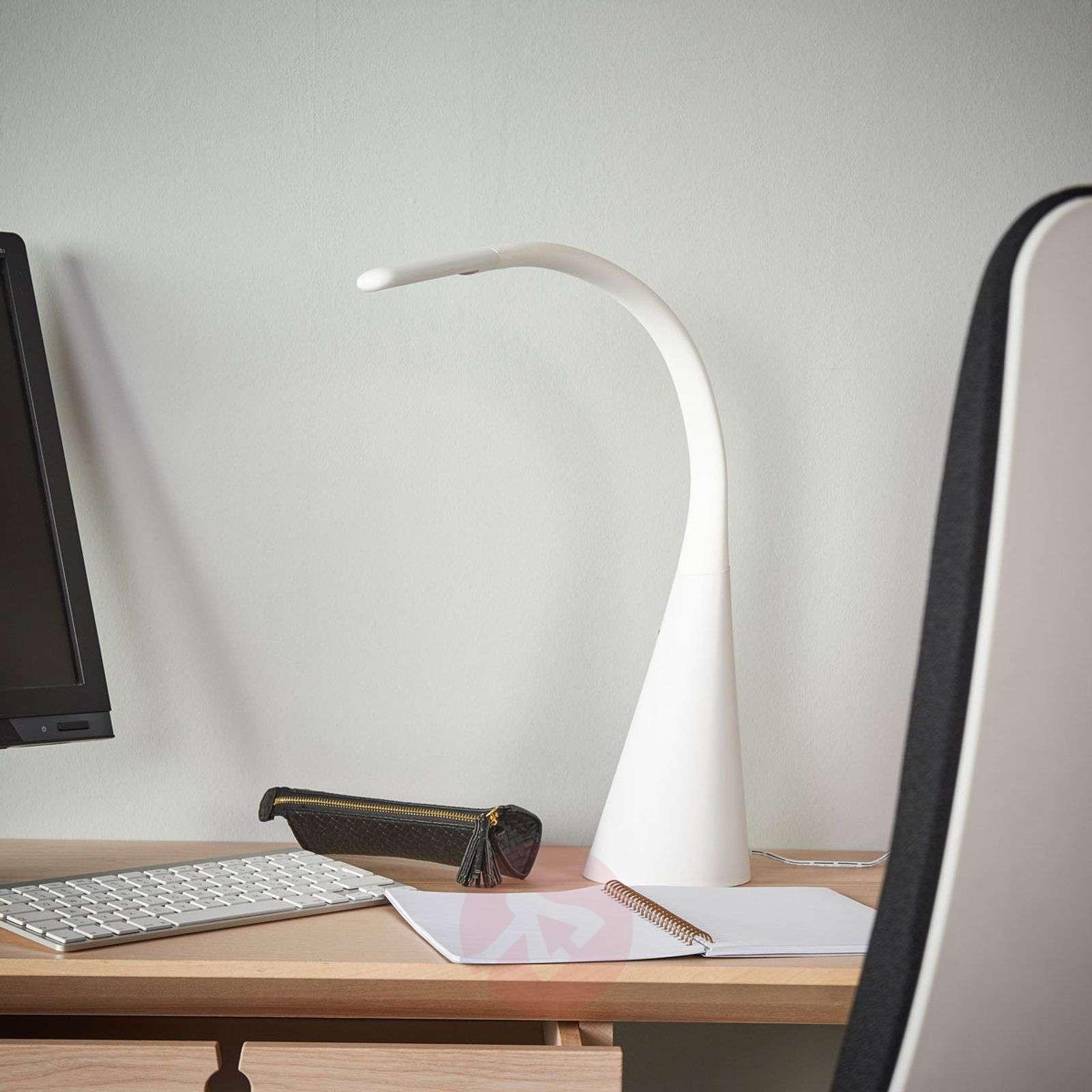 Muodikas Majani-pöytälamppu LED, himmennettävä USB-9643032-02