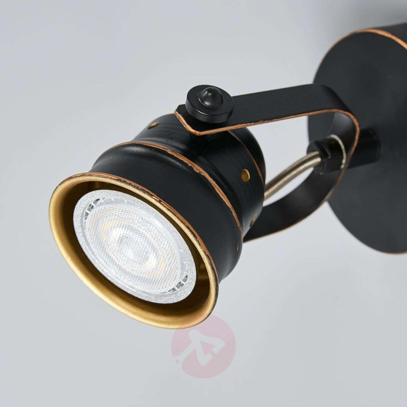 Musta-kultainen GU10-spottivalo Leonor, LED-9639066-01