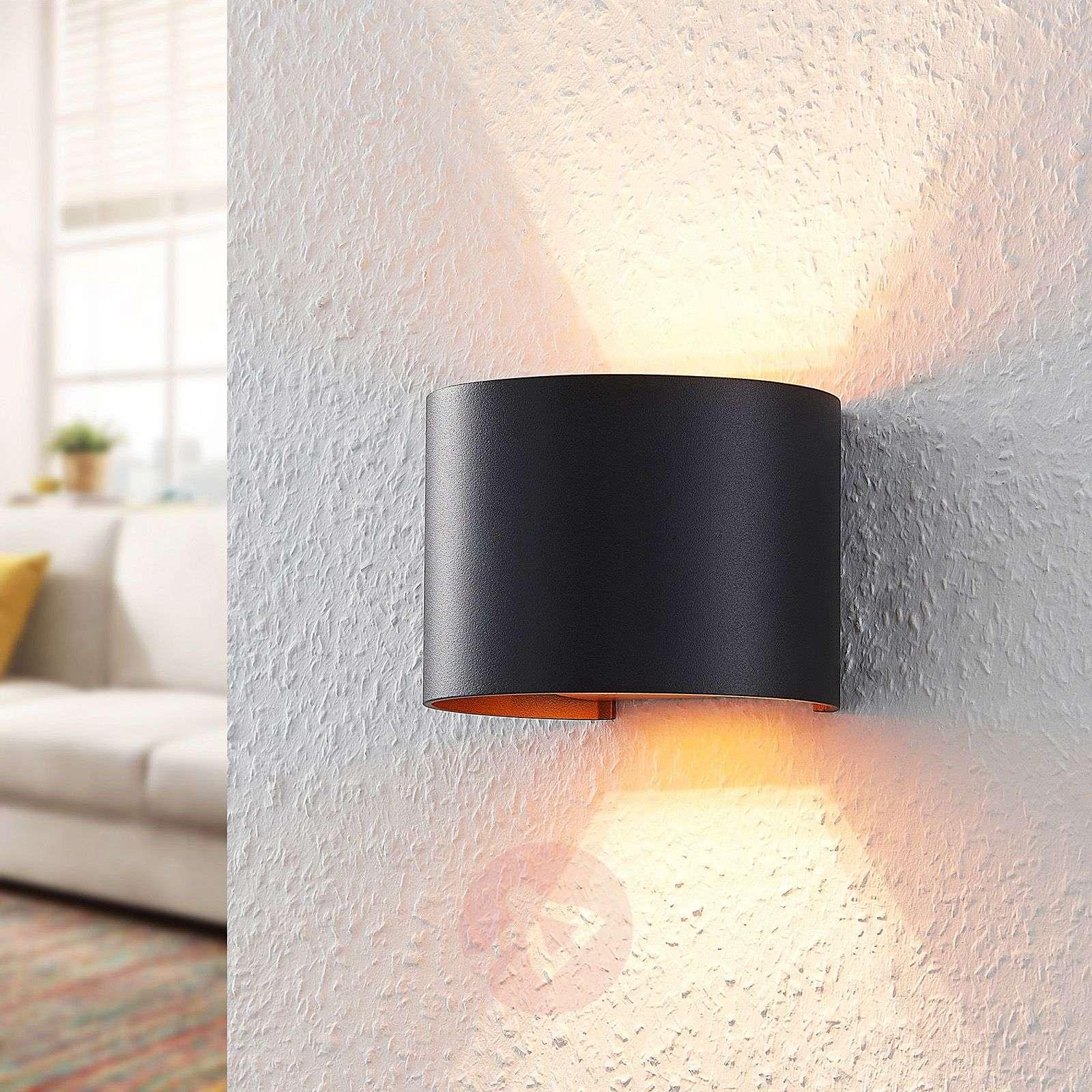 Musta-kultainen LED-seinävalaisin Zuzana, G9-9621852-03