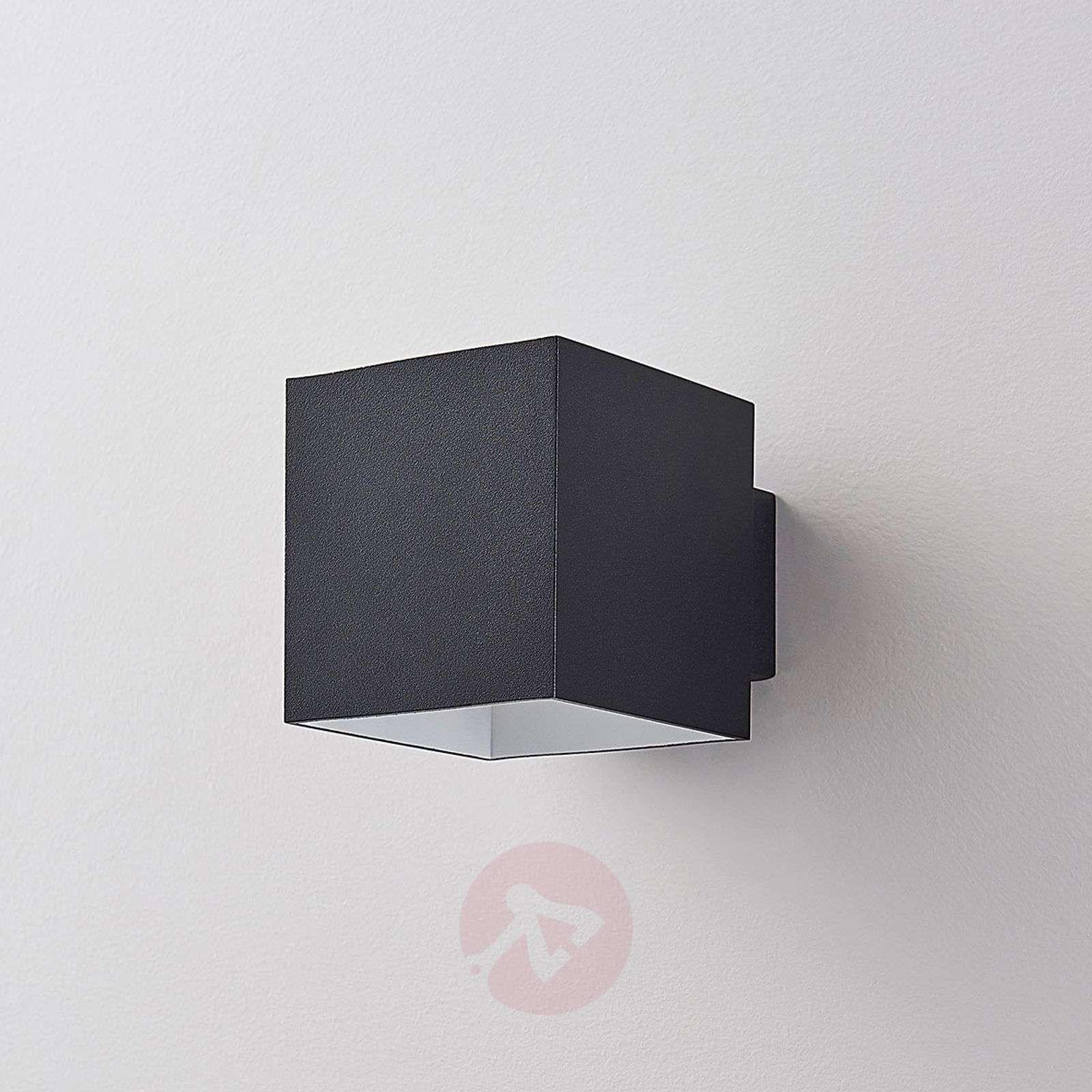 Musta LED-seinävalo Rocco, kuutiomainen-9621472-01