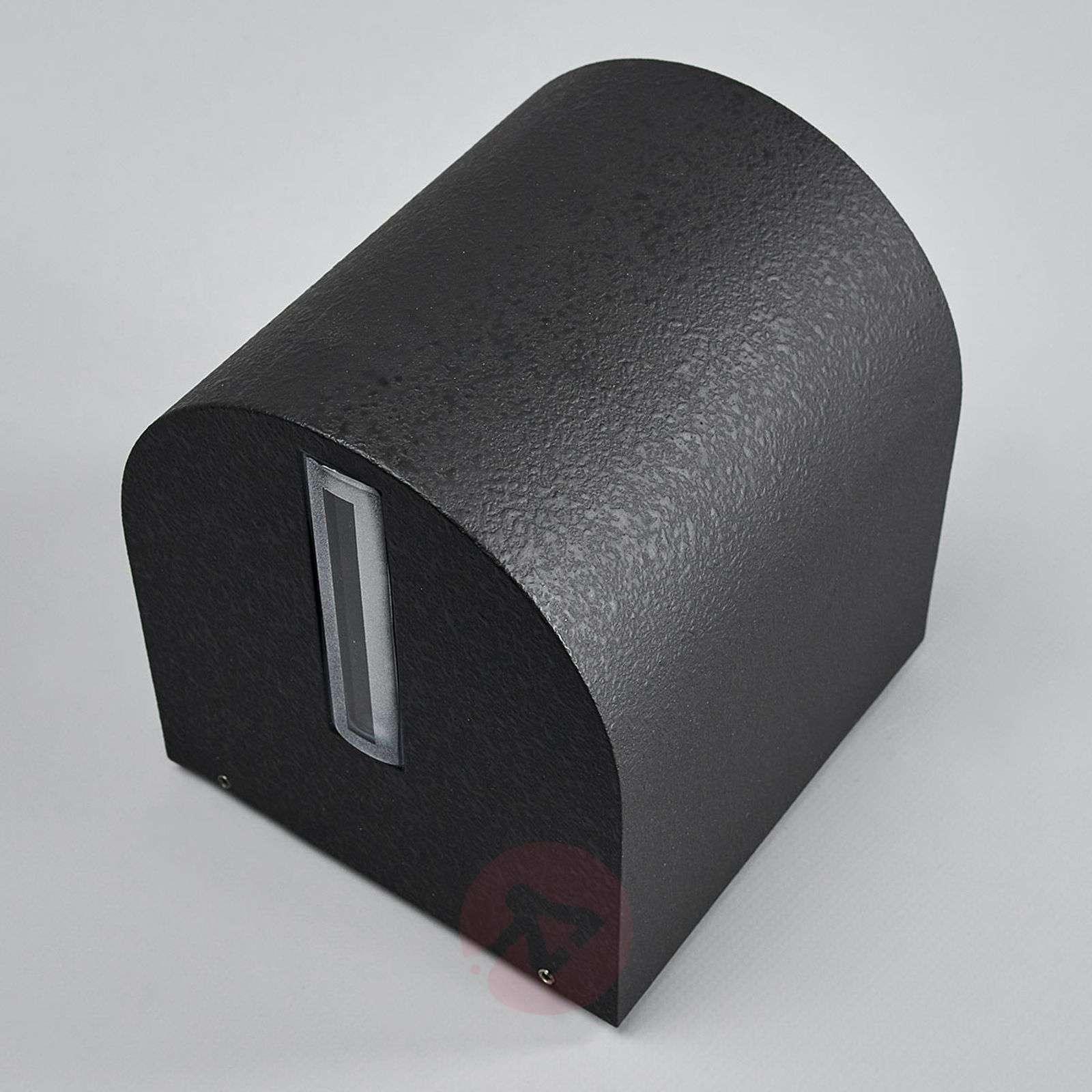 Musta Lenis-LED-seinäkohdevalo valaisu kapea-leveä-4000386-01