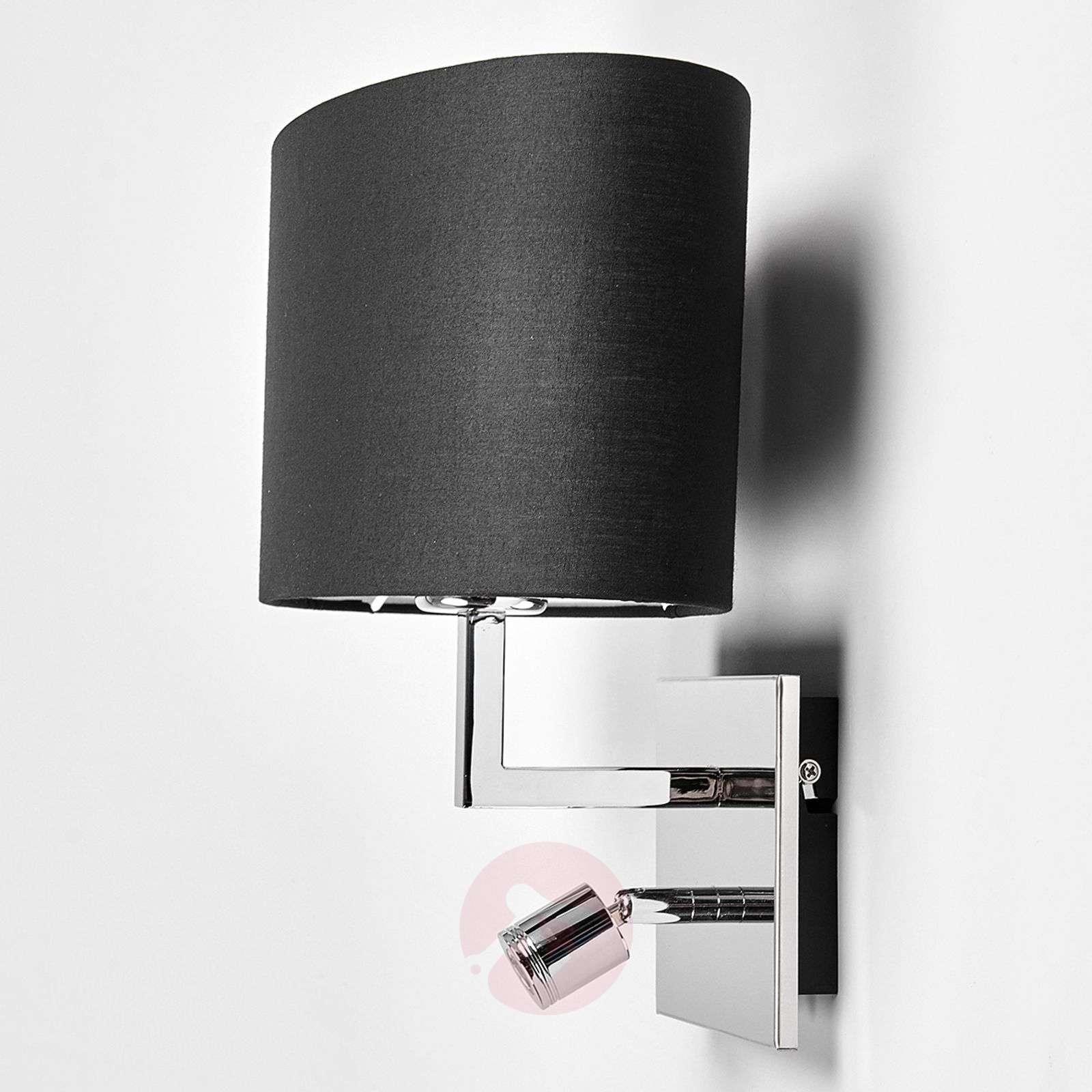 Musta seinävalaisin Karla LED-lukulampulla-9976008-01