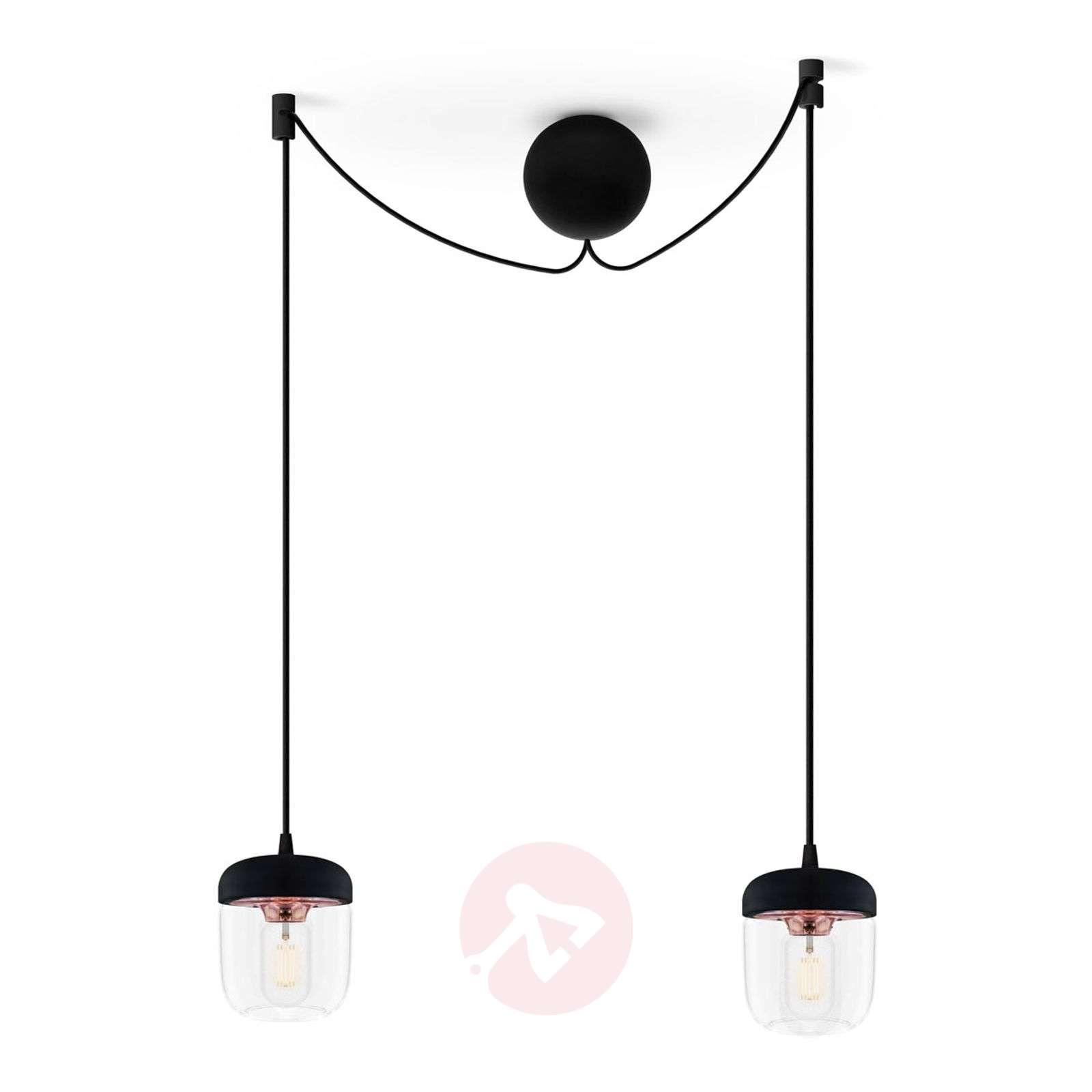 Mustaa ja kuparia – riippuvalaisin Acorn 2lamppua-9521090-01