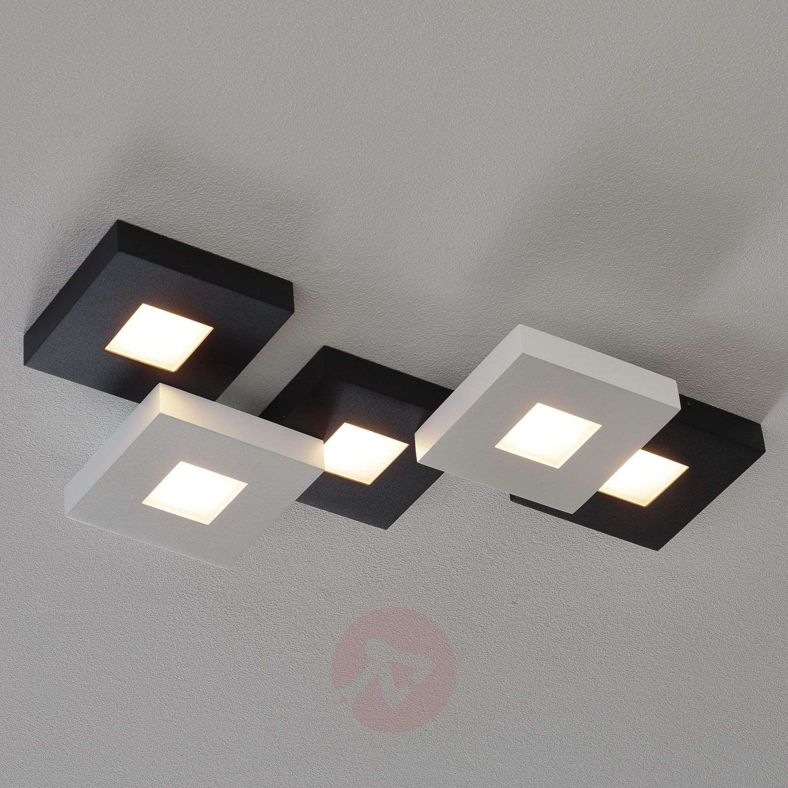 Mustavalk. LED-kattovalaisin Cubus 5-lamppuinen-1556074-02