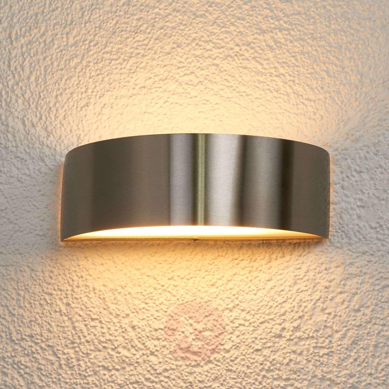 Nada LED-ulkoseinävalaisin, ruostumaton teräs-9972033-07