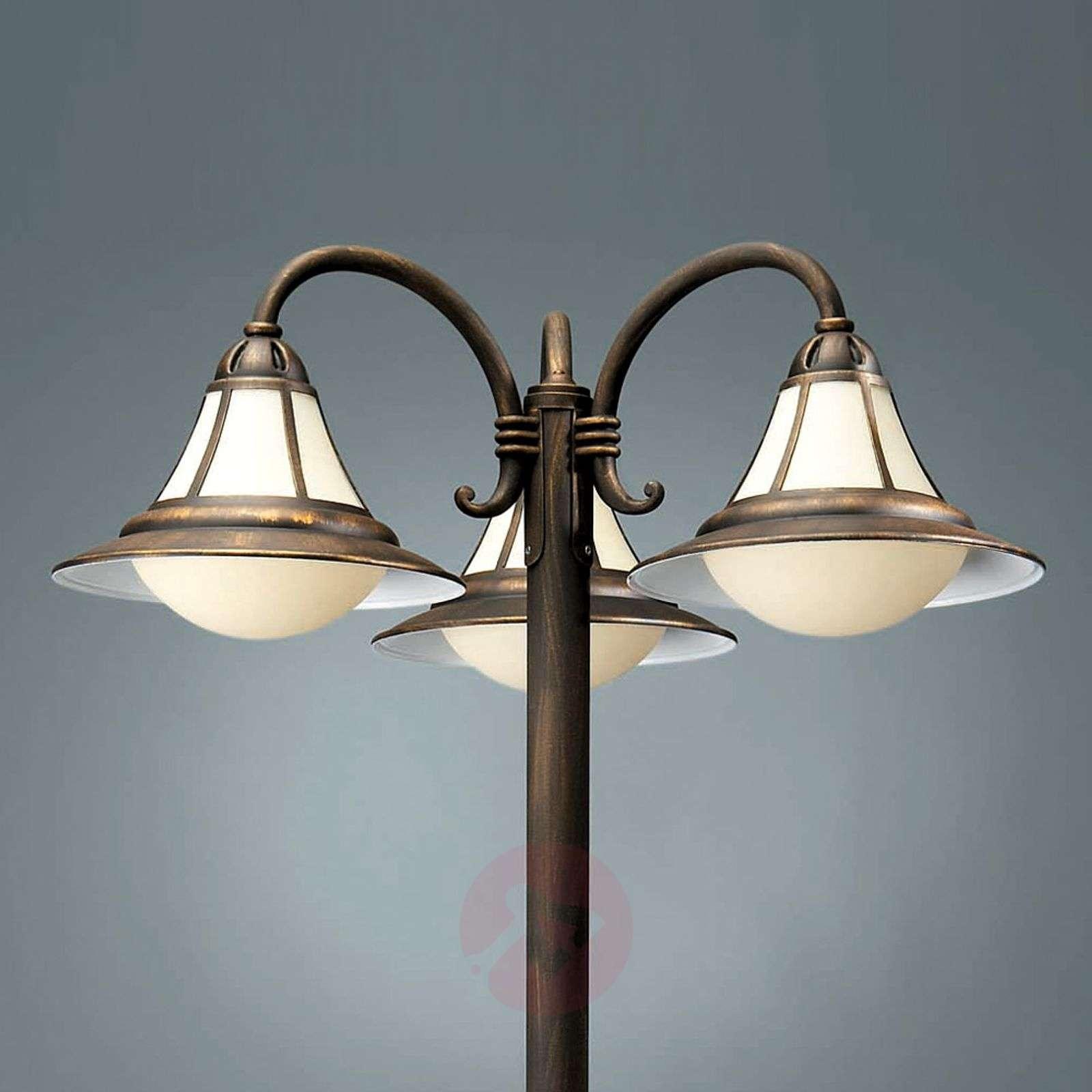 Näyttävä 3-lamppuinen valopylväs Sofia-6501565-01
