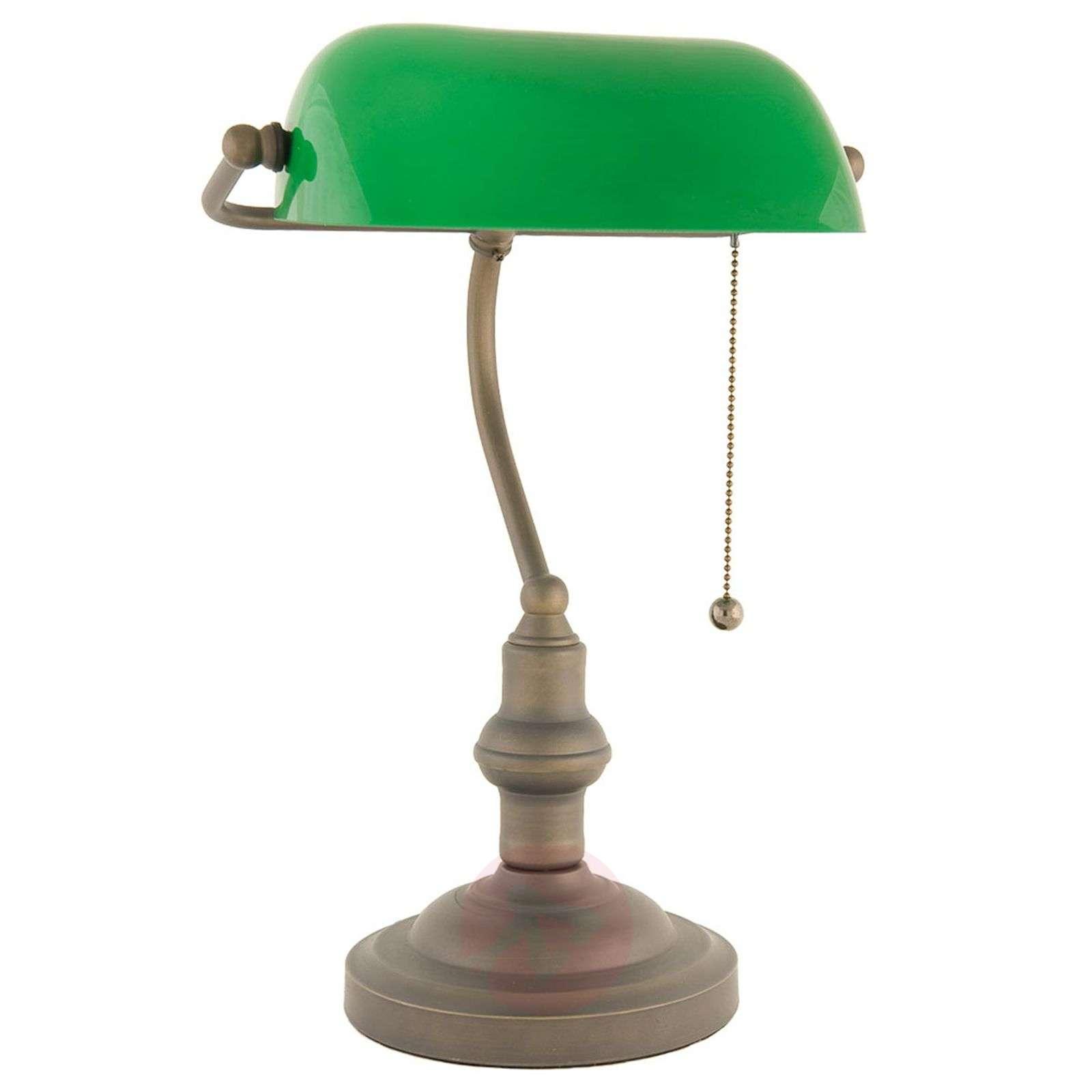 Näyttävä antiikkiruskea Verda-pankkiirivalaisin-6064123-02
