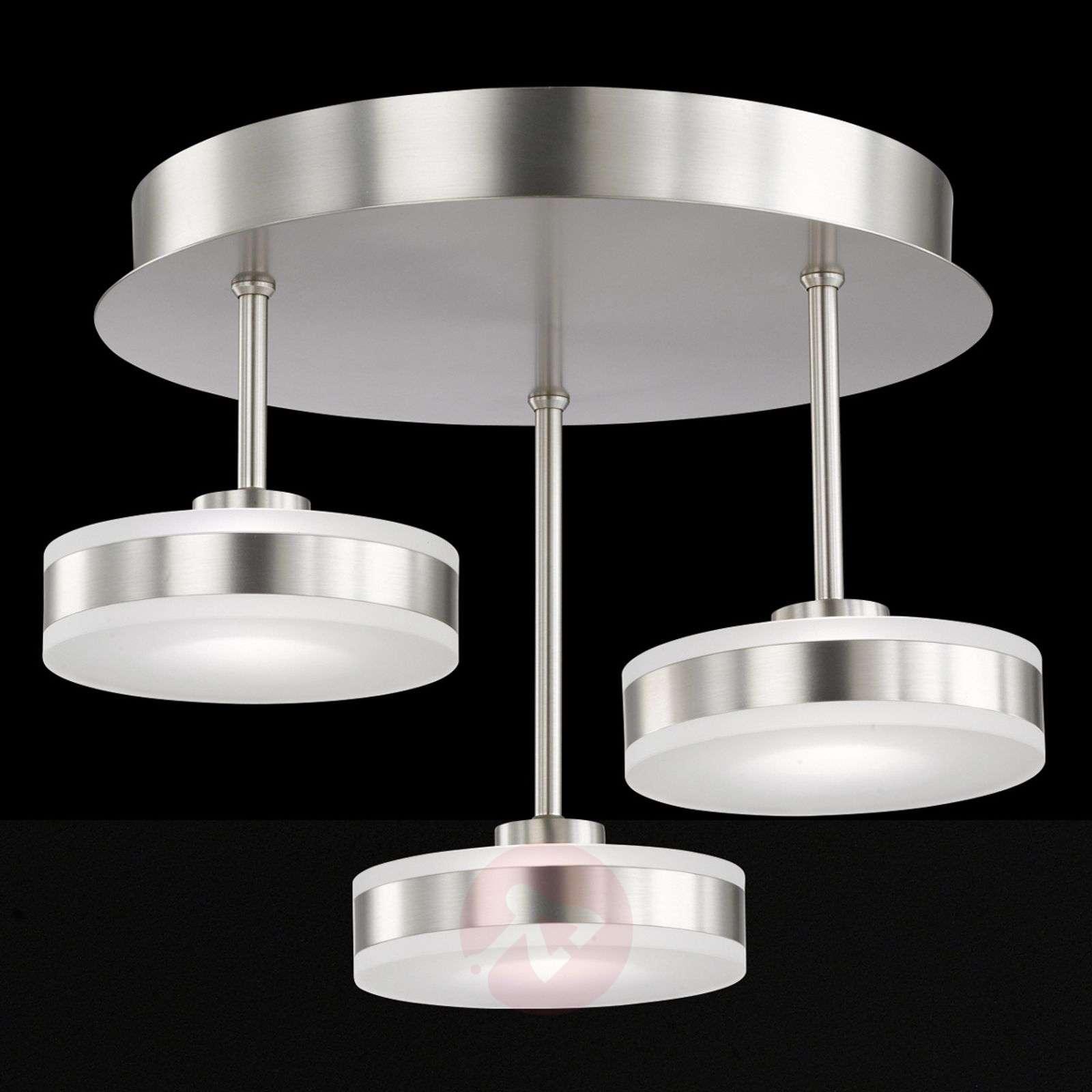 Näyttävä LED-kattovalaisin Puk, kolmiosainen