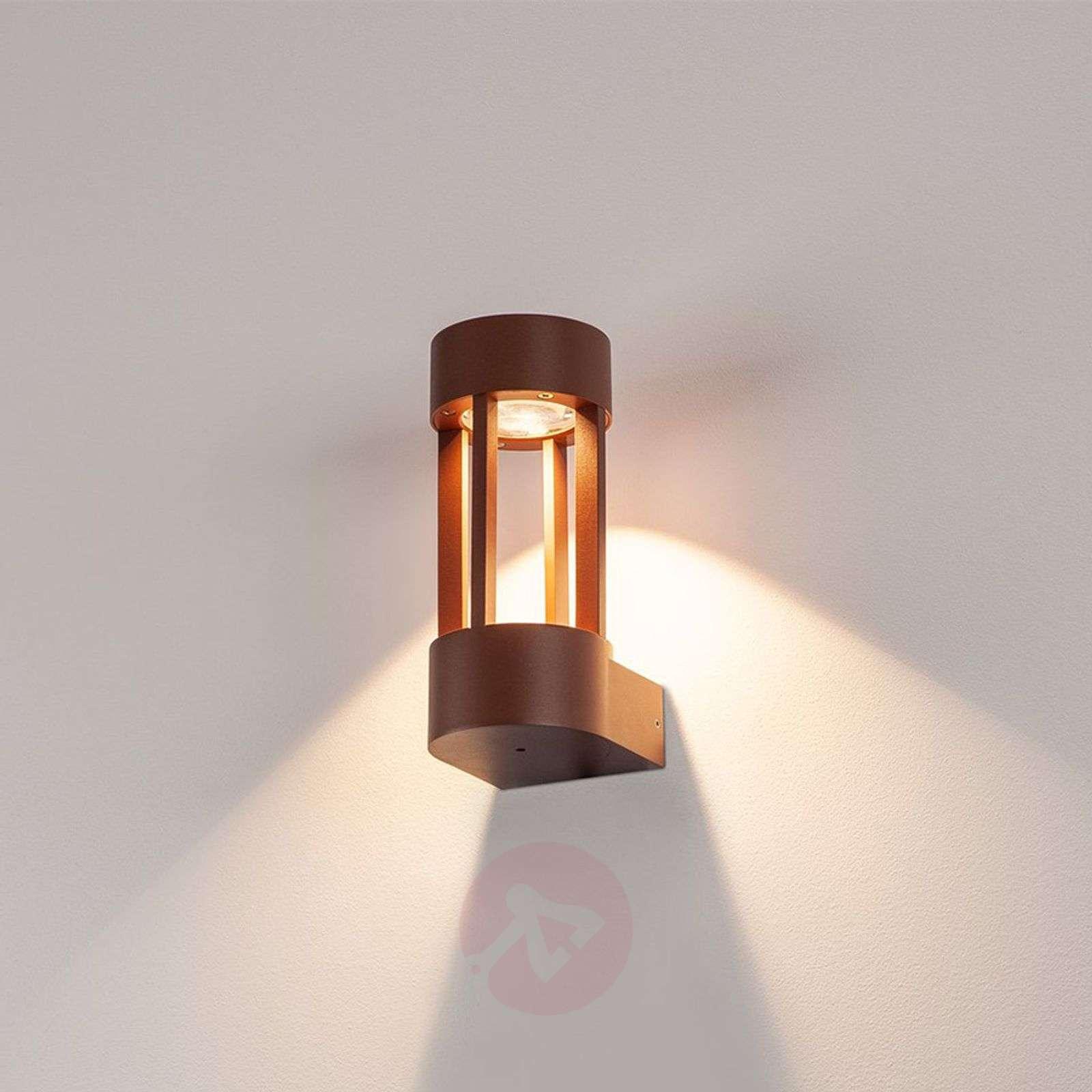 Näyttävä LED-ulkoseinävalaisin Slots Wall ruoste-5504669-01