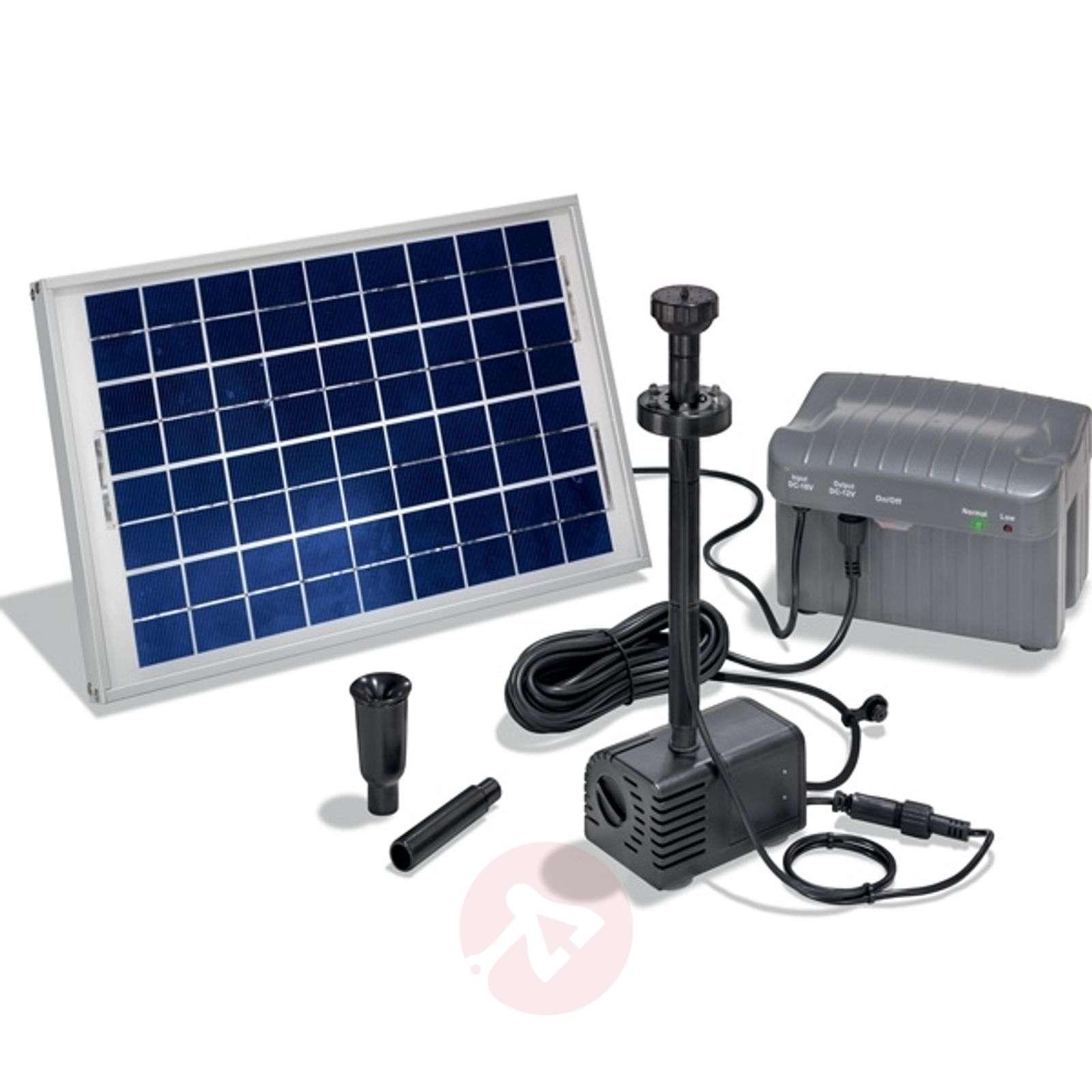 Napoli-suihkulähdepumppu aurinkokennolla, LED-3012105-01