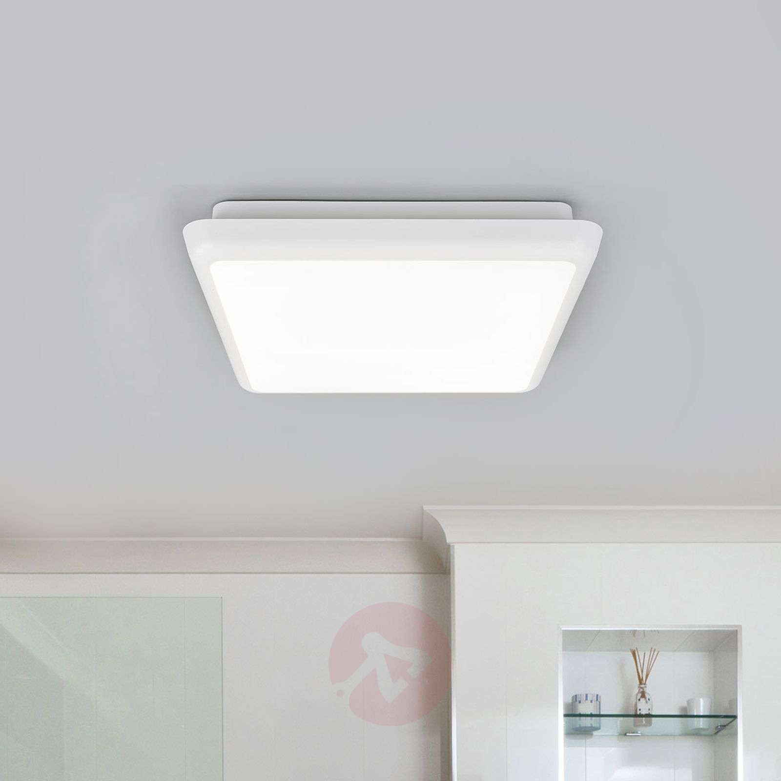 Nelikulmainen Augustin LED-kattovalaisin, 25 cm-9967010-01