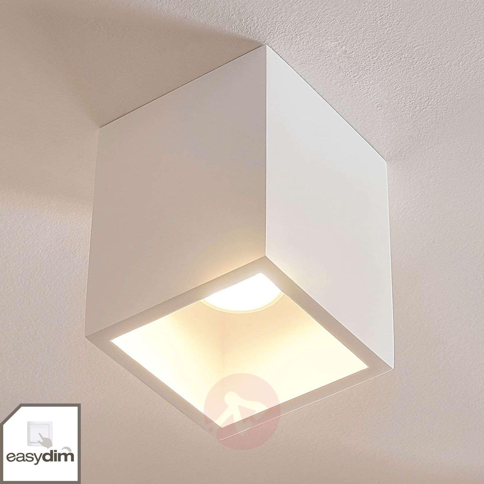 Nelikulmainen kipsi-downlight Natalie, easydim-9621355-01