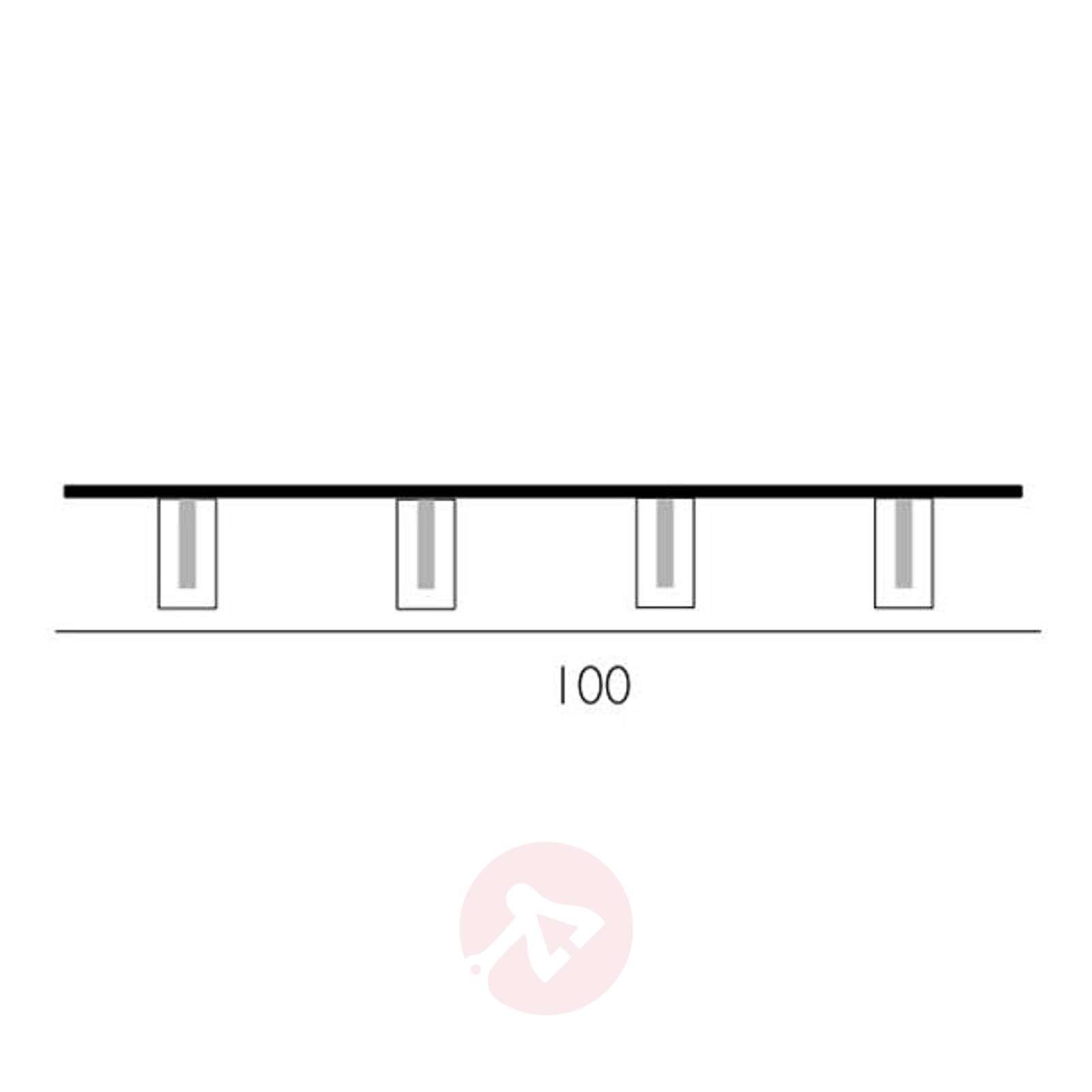 Nelilamppuinen DOUBLE-kattovalaisin-2000258-01