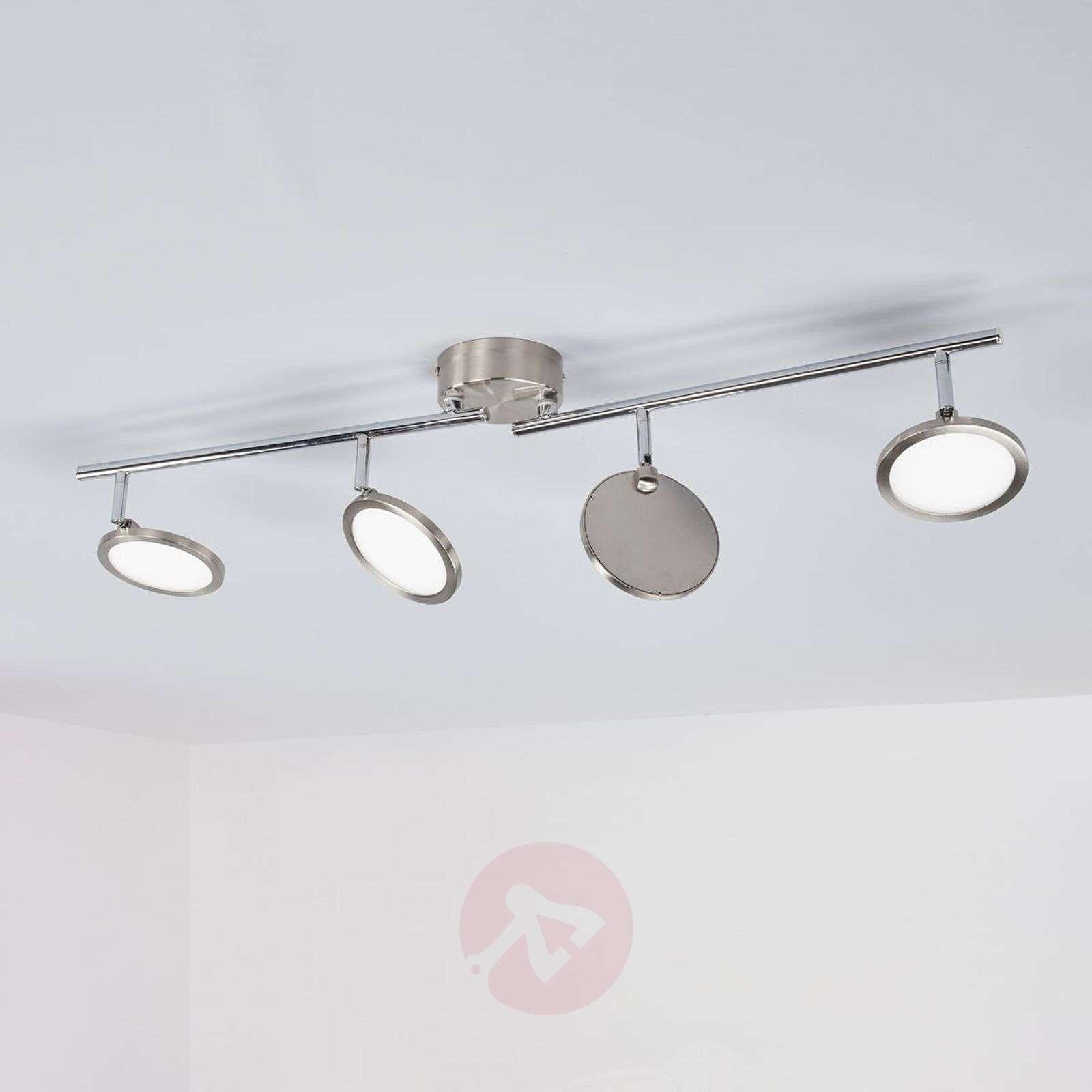 Nelilamppuinen Easydim-LED-kattovalaisin Tyrese-1558077-01