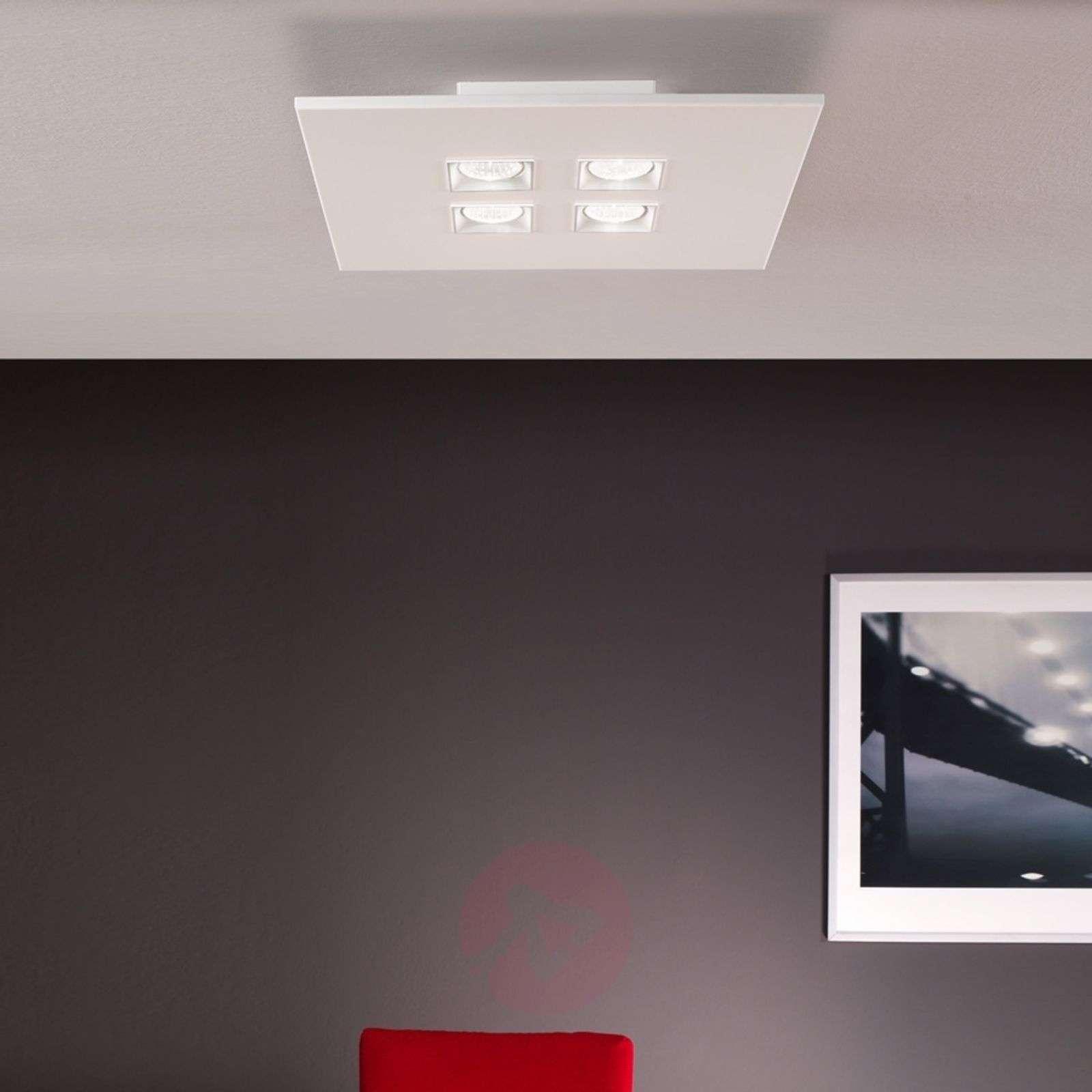 Nelilamppuinen kattovalaisin Polifermo, valkoinen-6708053-01
