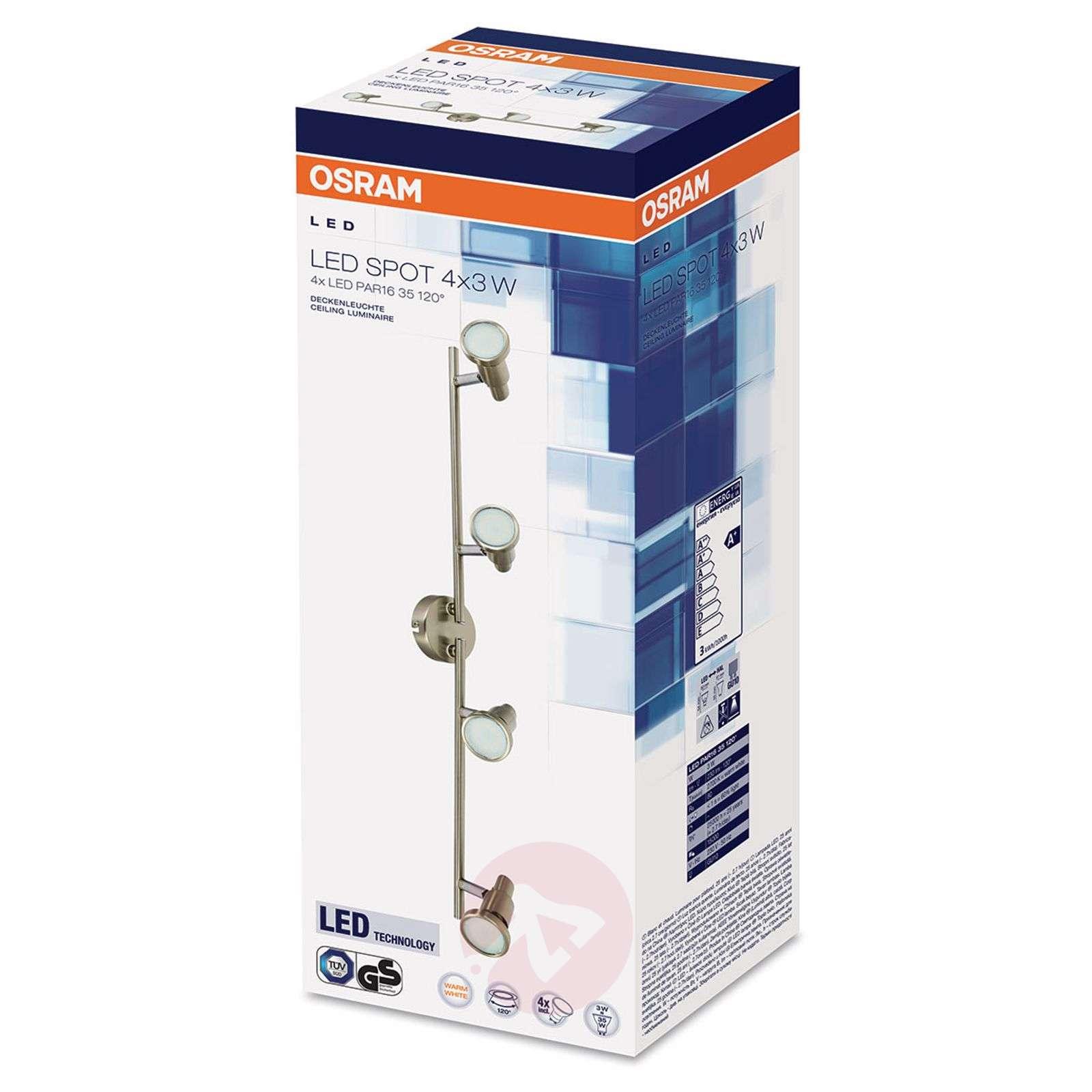 Nelilamppuinen LED-kattokohdevalaisin Niclas-7261353-01