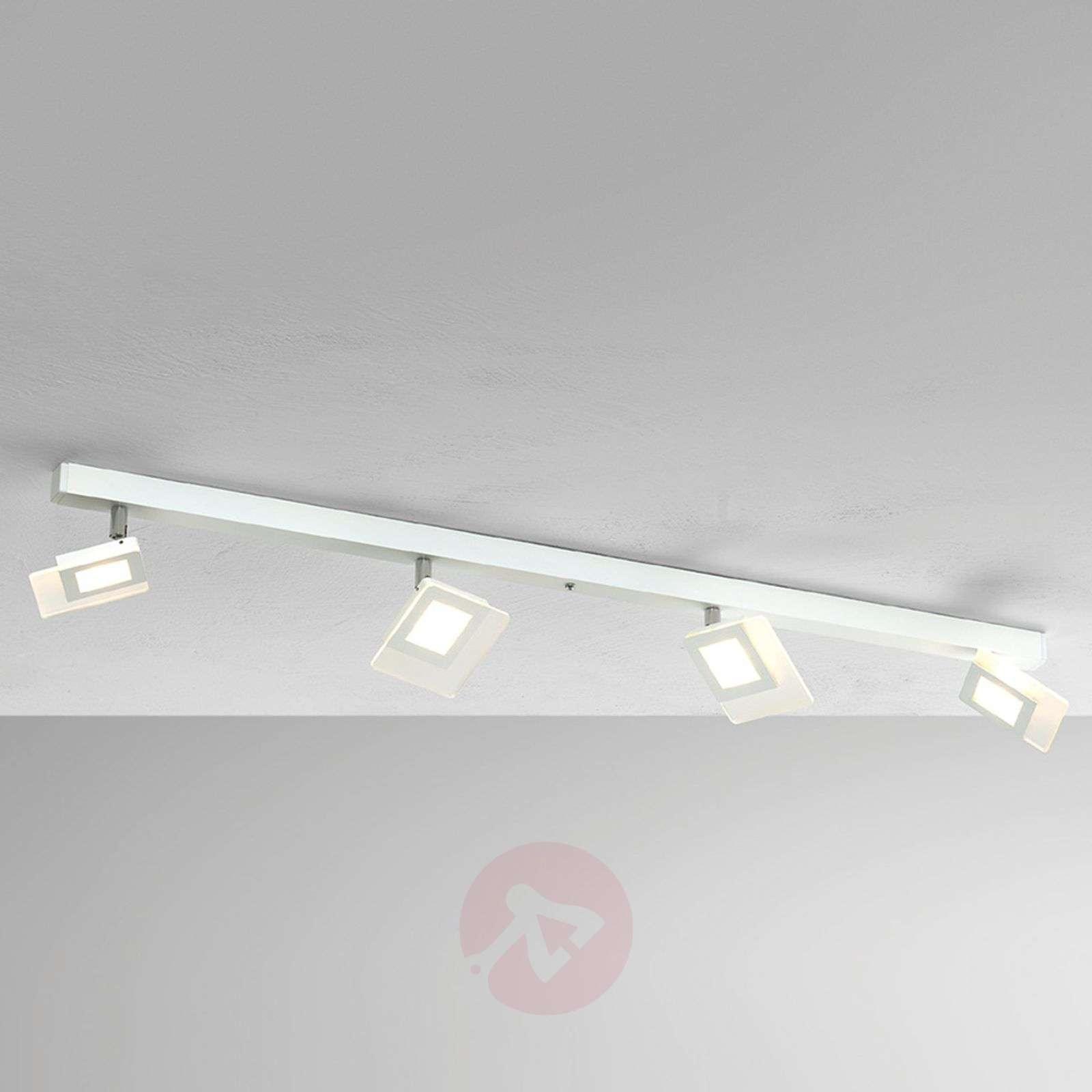 Nelilamppuinen LED-kattovalaisin Line, valkoinen-1556070-01