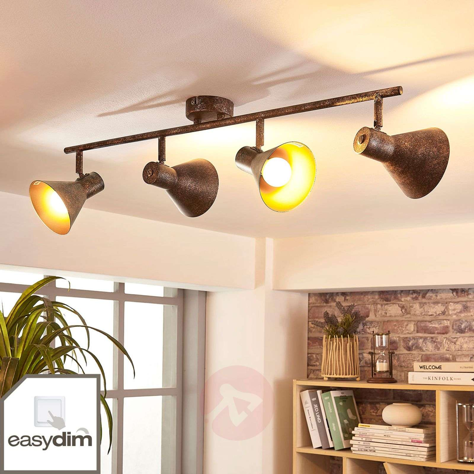 Nelilamppuinen LED-kattovalaisin Zera, easydim-9621543-02