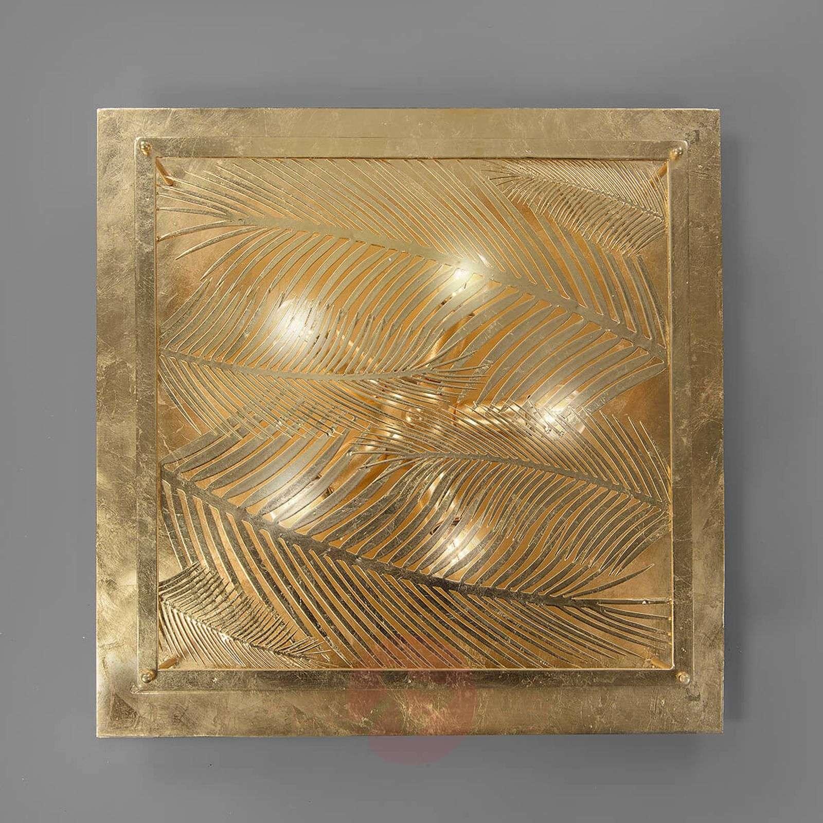 Neliömäinen designer-kattolamppu Felce, kulta-3532155-01