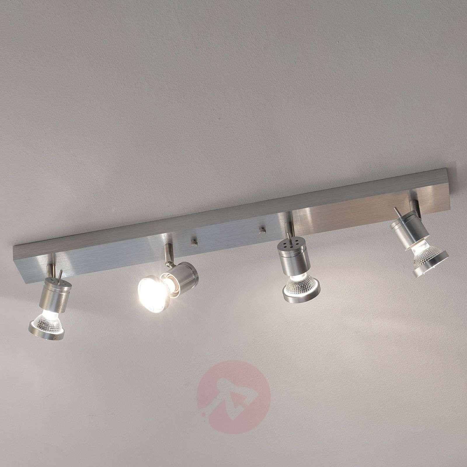 Neliosainen ASTO-kattospotti koristerenkaalla-5502146-01
