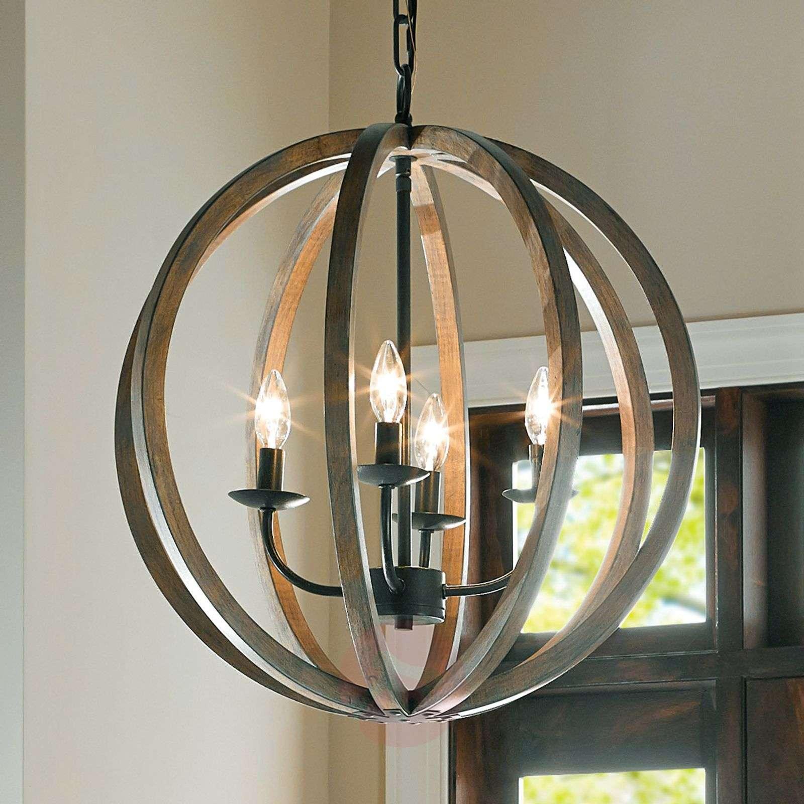 Neljän lampun puinen Allier-riippuvalaisin 52,1cm-3048332-03