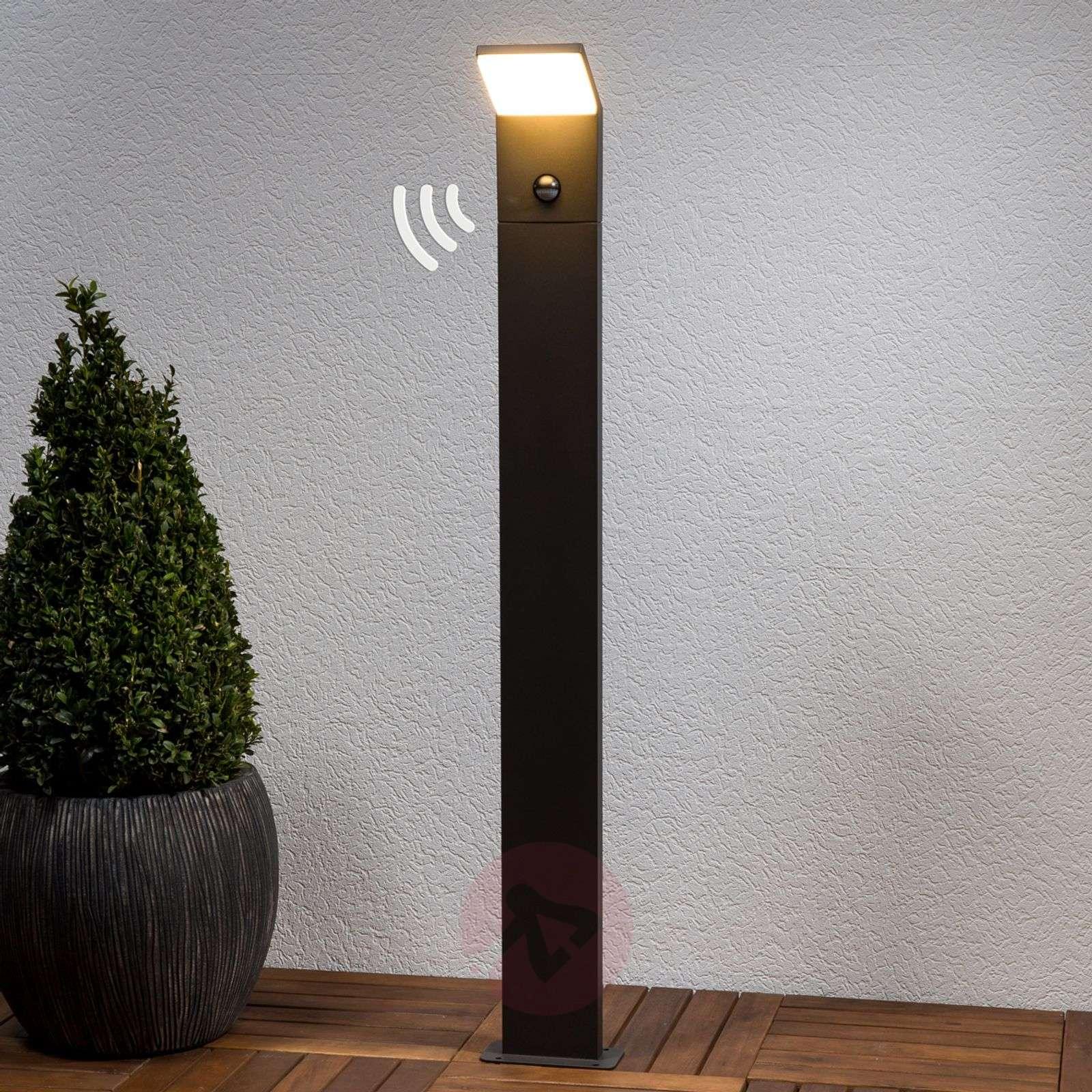 Nevio-LED-pylväsvalaisin liiketunnistimella-9619044-01