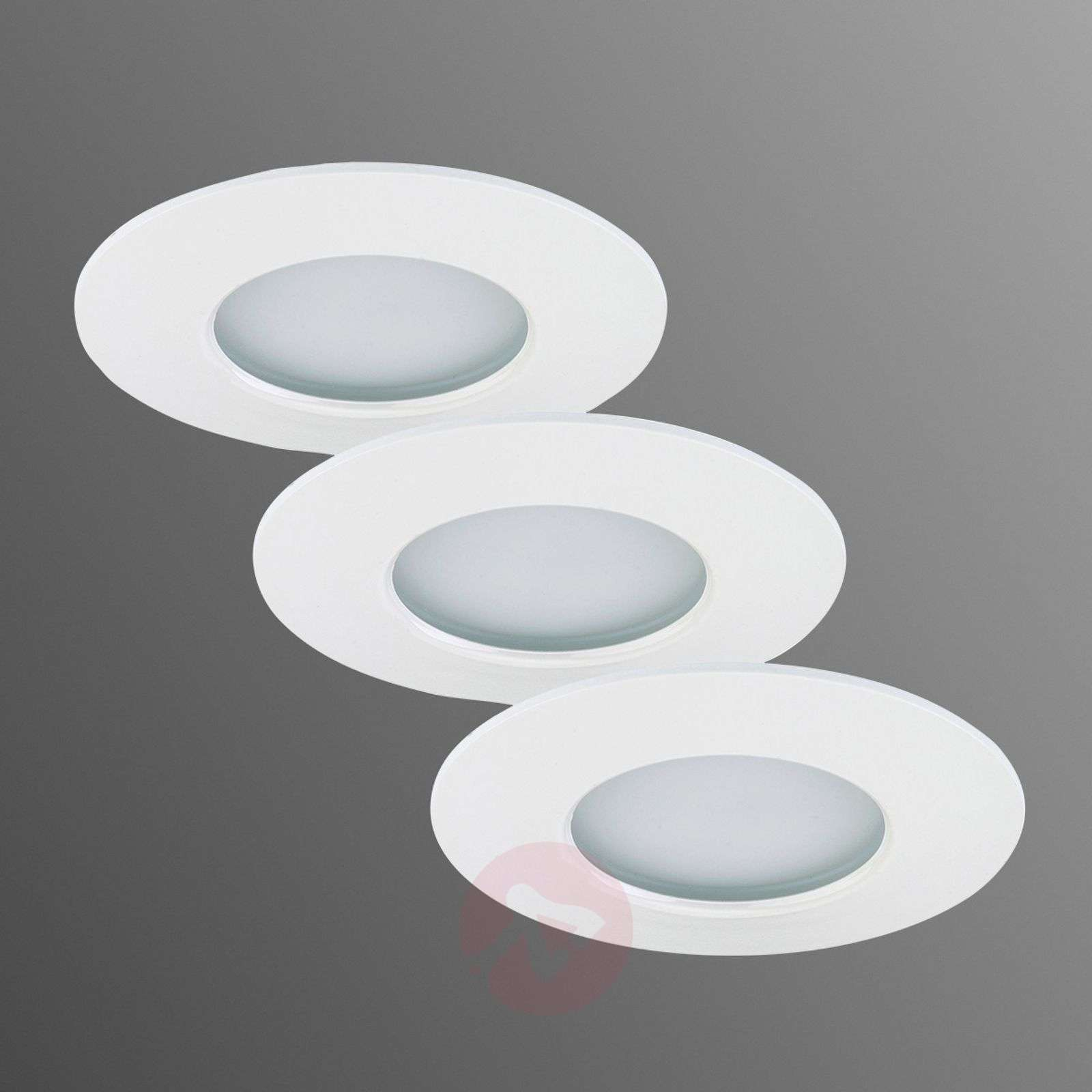 Nikas-LED-uppokohdevalaisin IP44, 3 kpl:n setti-1510230X-01