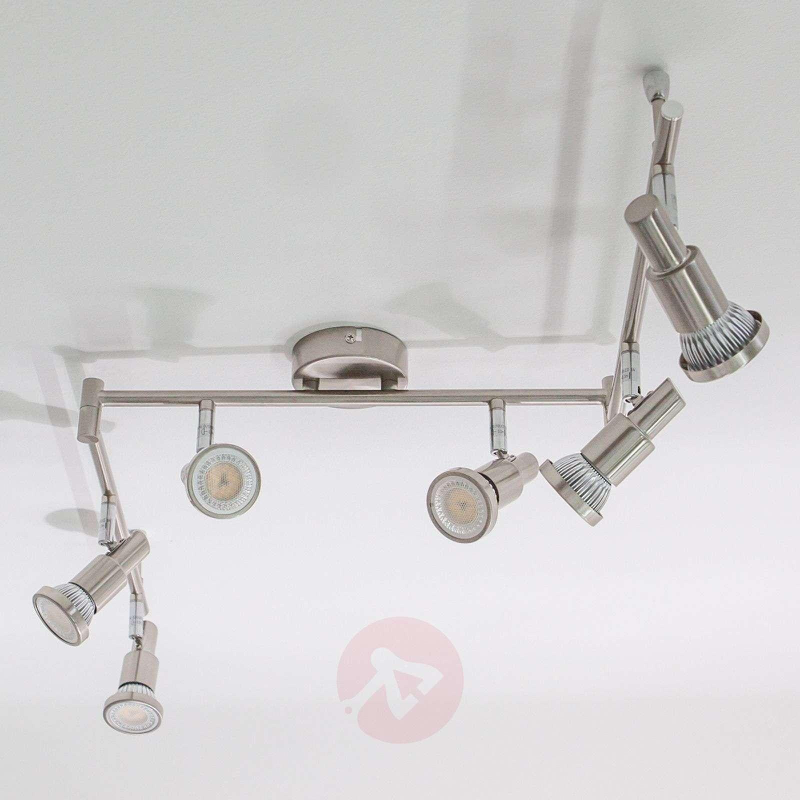 Nikkelin värinen led-kattovalaisin Aron, 6 lamppua-9950324-02