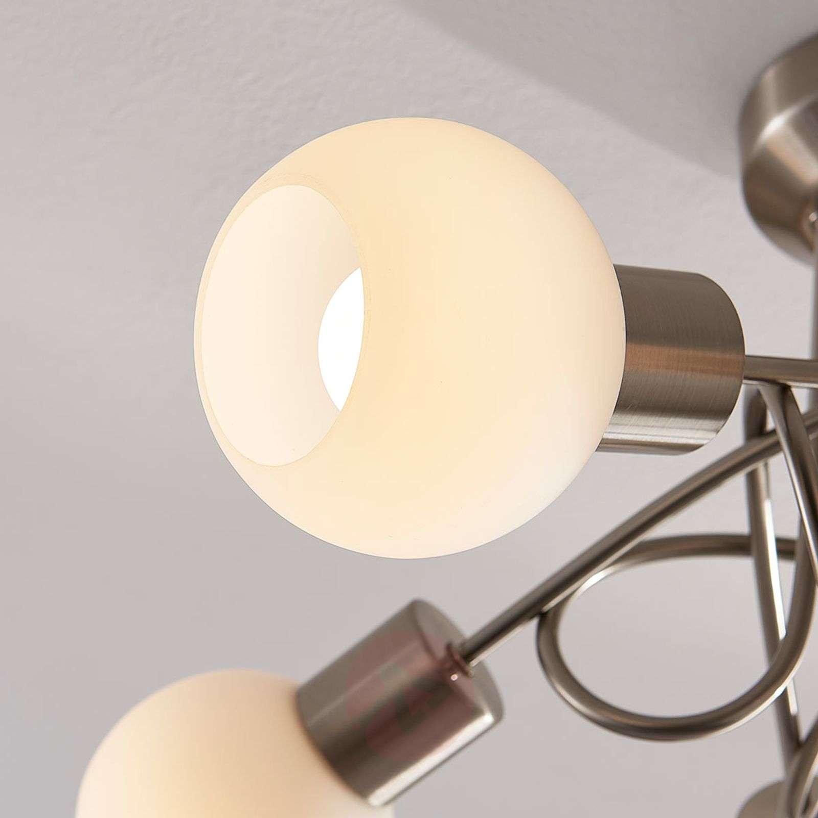 Nikkelinvär. LED-kattolamppu Elaina, 5-lamppuinen-9621681-02