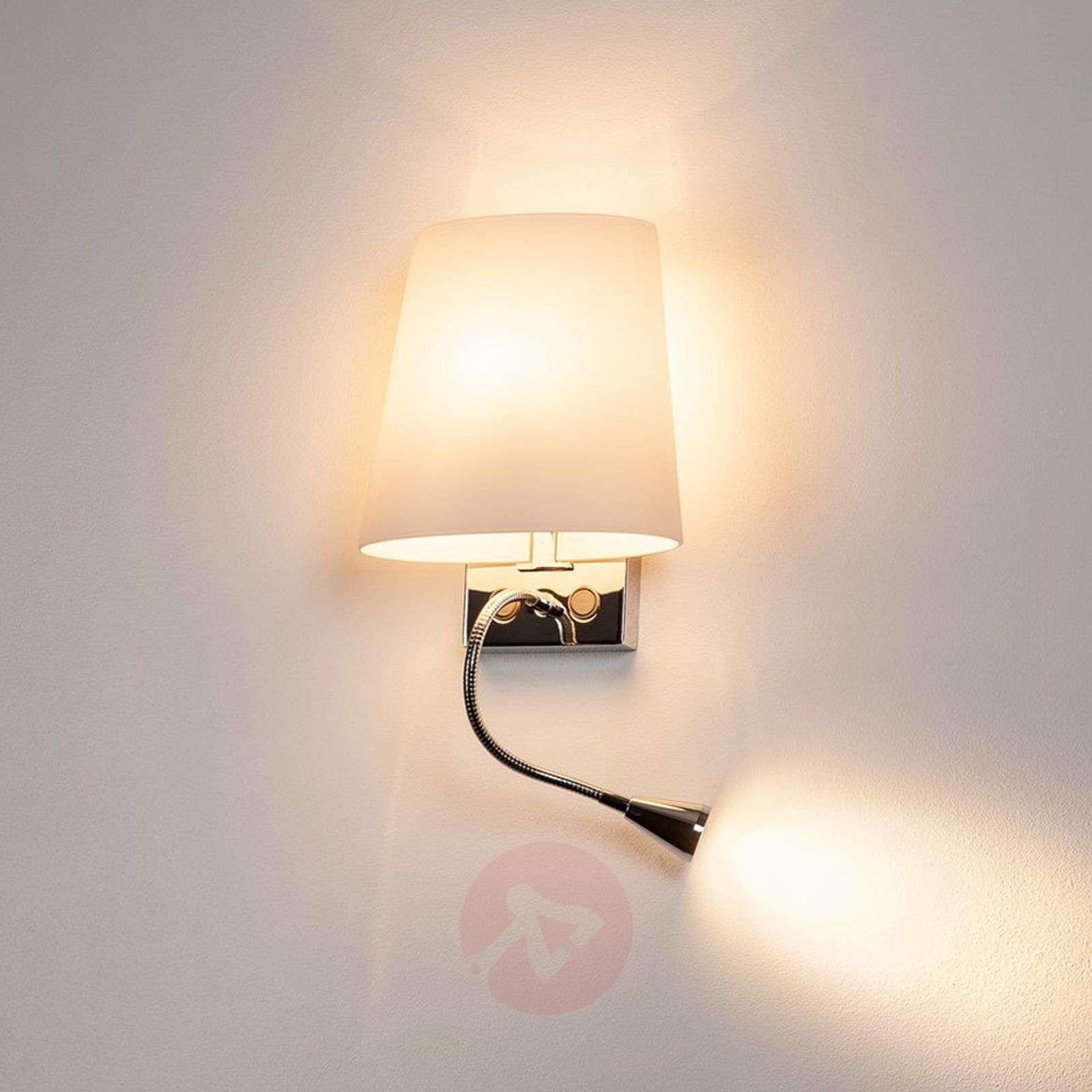 Nykyaikainen COUPA-seinävalaisin LED-lukuvalolla-5504102-01