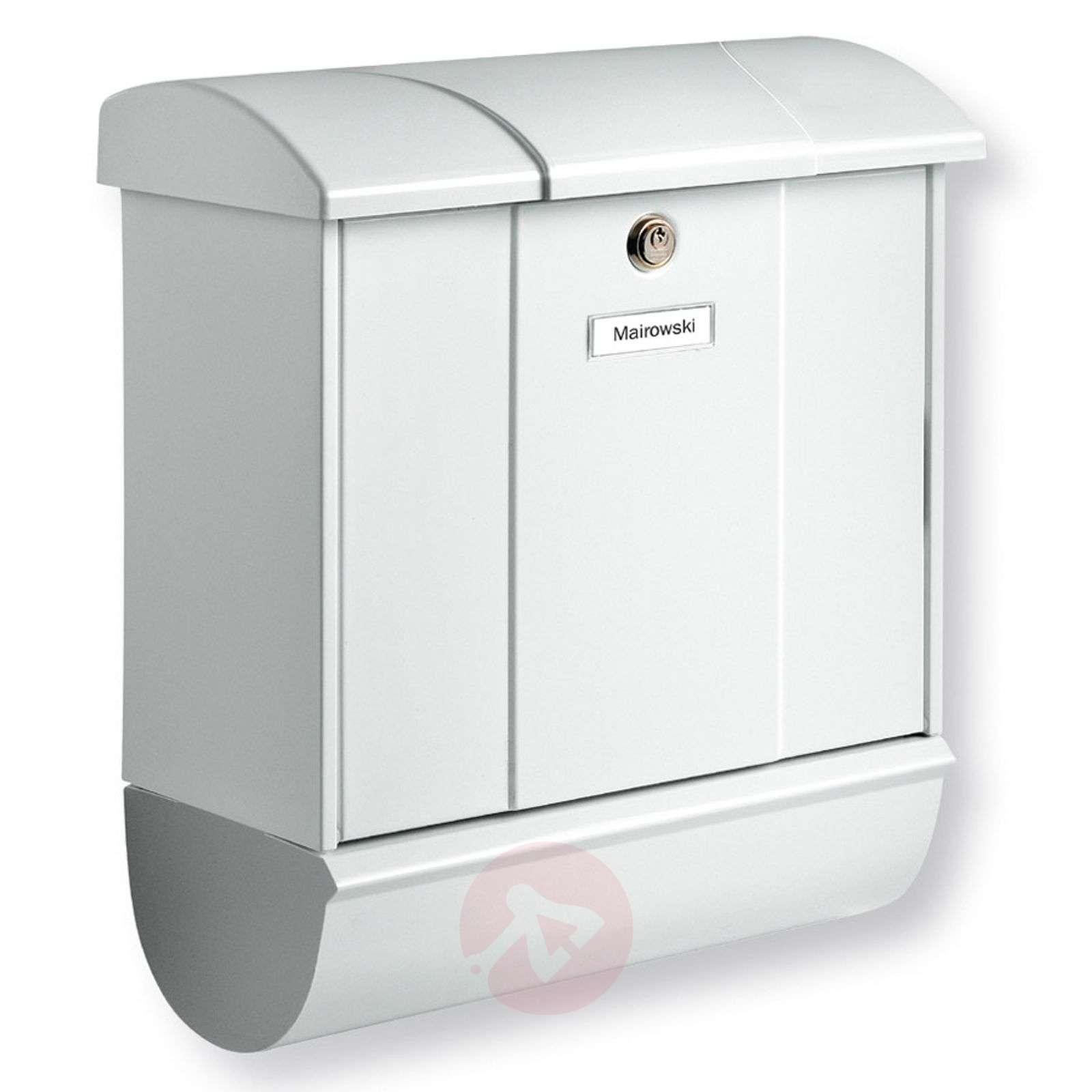Olymp-postilaatikko sanomalehtilokerolla valkoinen-1532077-01